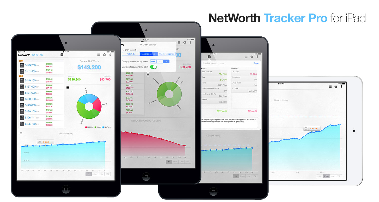 Net Worth Tracker Pro for iPad