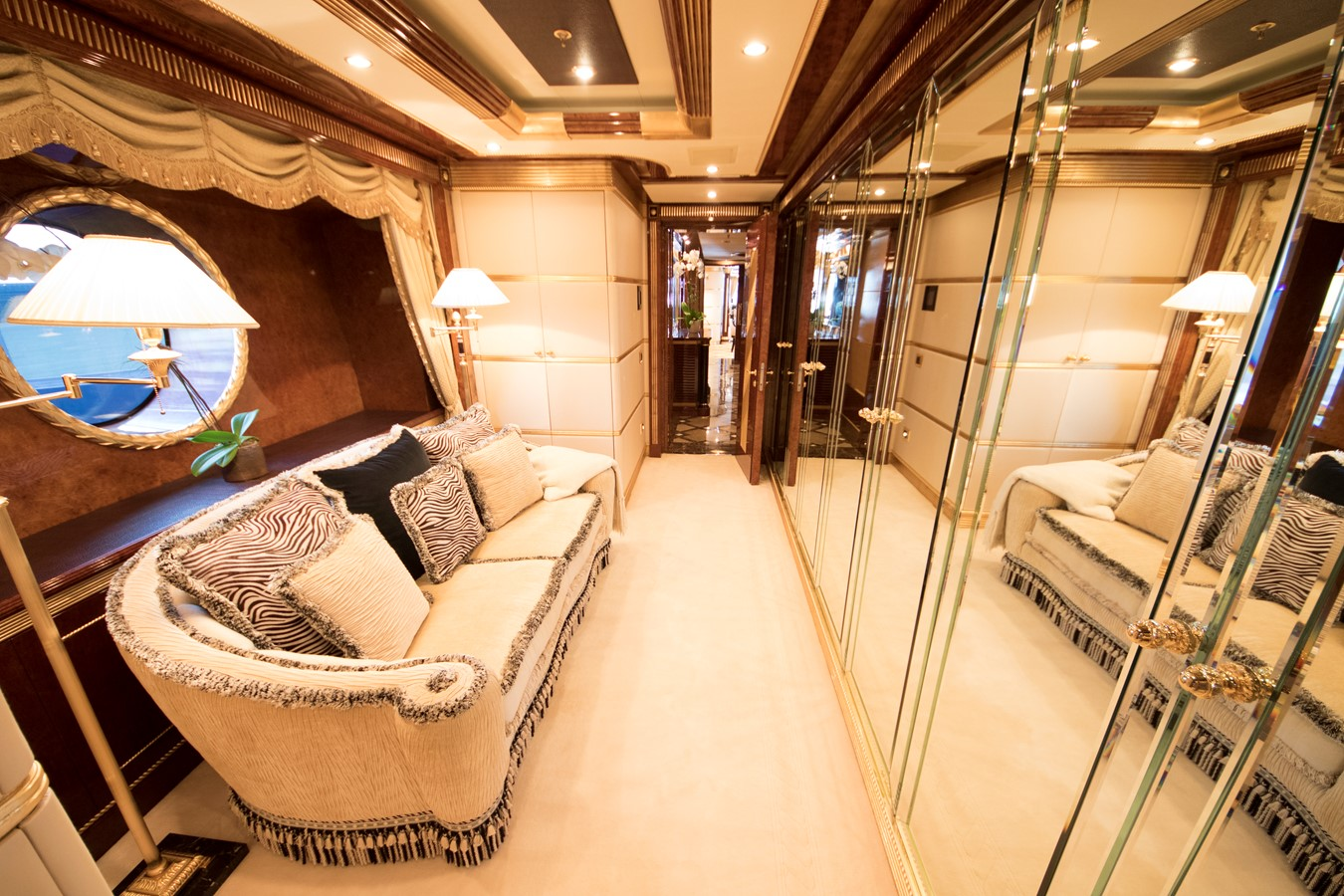 Master Stateroom Sitting Area - 203 BENETTI For Sale