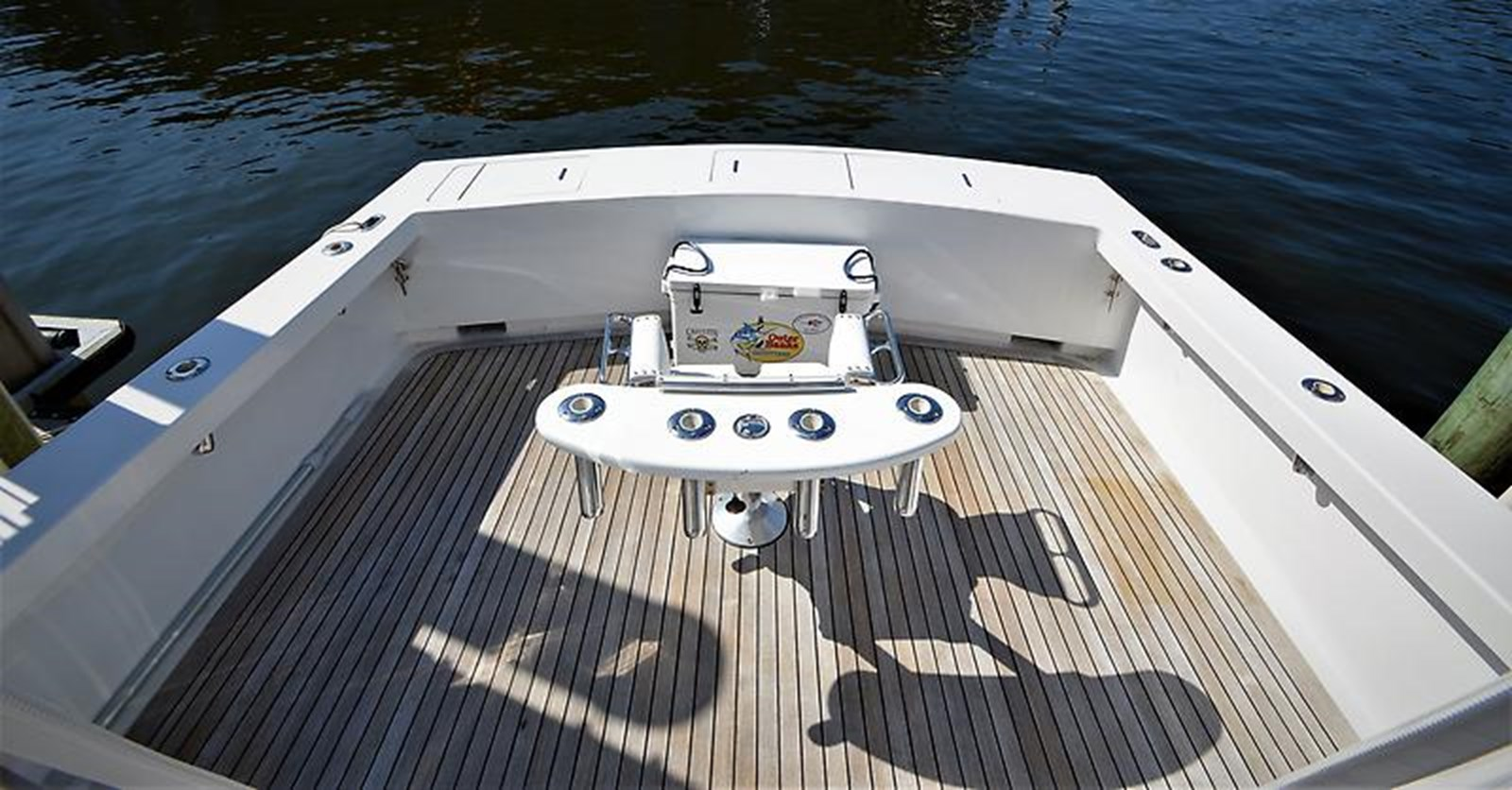 2001 Custom Rambo Fisharound Express Cockpit with Fighting Chair - 34 CUSTOM / RAMBO For Sale