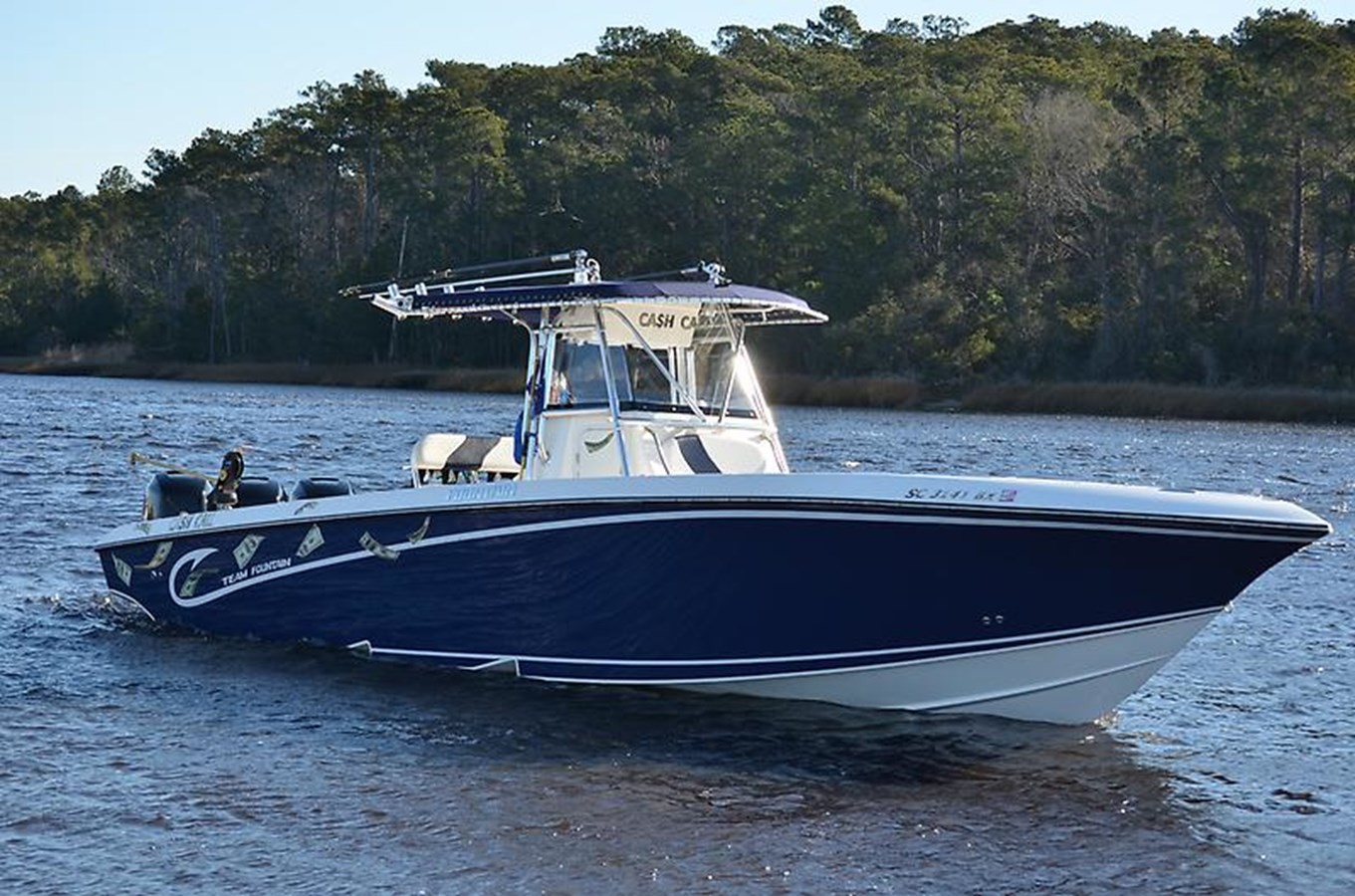 Starboard Profile - 34 FOUNTAIN For Sale
