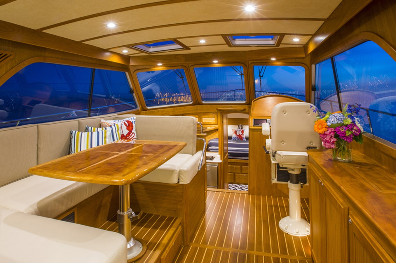 Salon Looking into Helm - 38 SABRE YACHTS For Sale