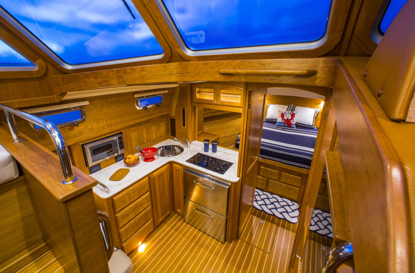 Galley Looking Down - 38 SABRE YACHTS For Sale