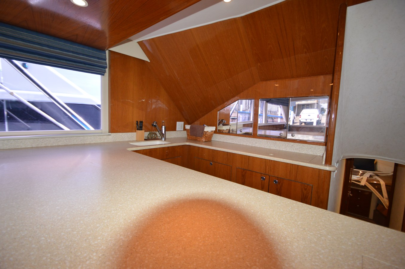 53 Capps Galley Countertop - 53 CAPPS BOATWORKS, INC. For Sale