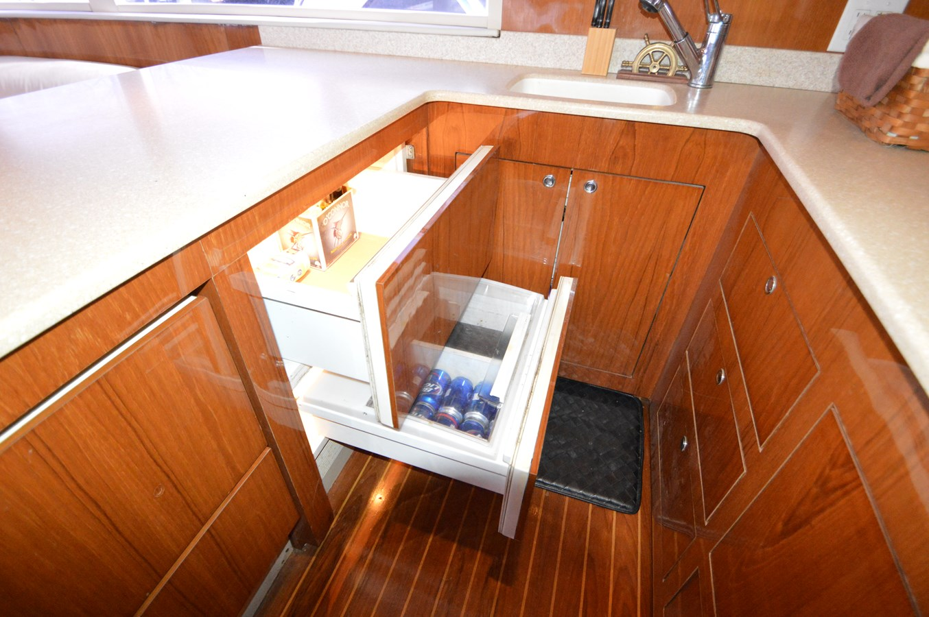 53 Capps Fridge Drawers - 53 CAPPS BOATWORKS, INC. For Sale