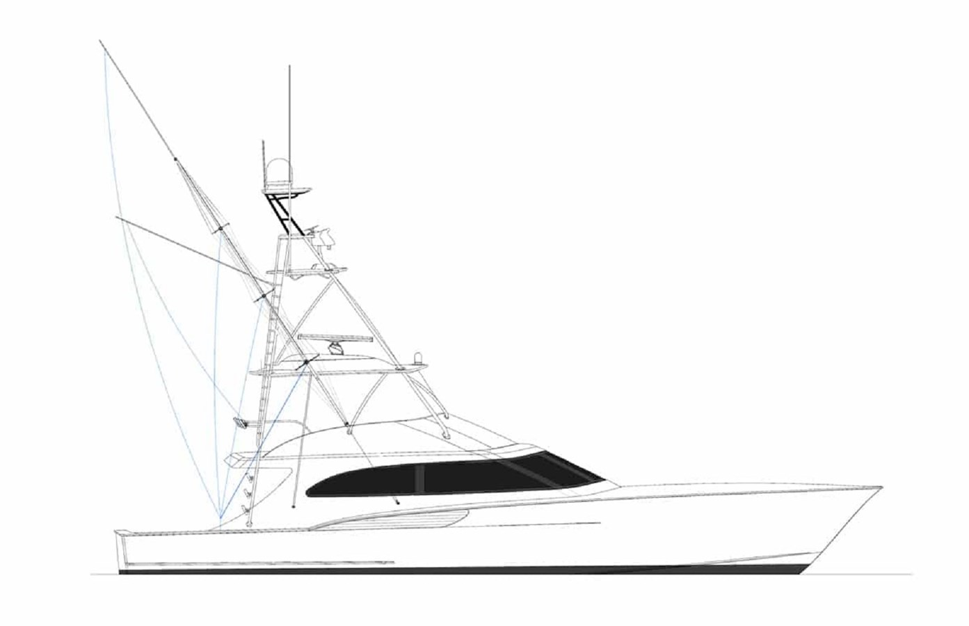 JBBW Hull 65 Under Construction - 64 JARRETT BAY For Sale