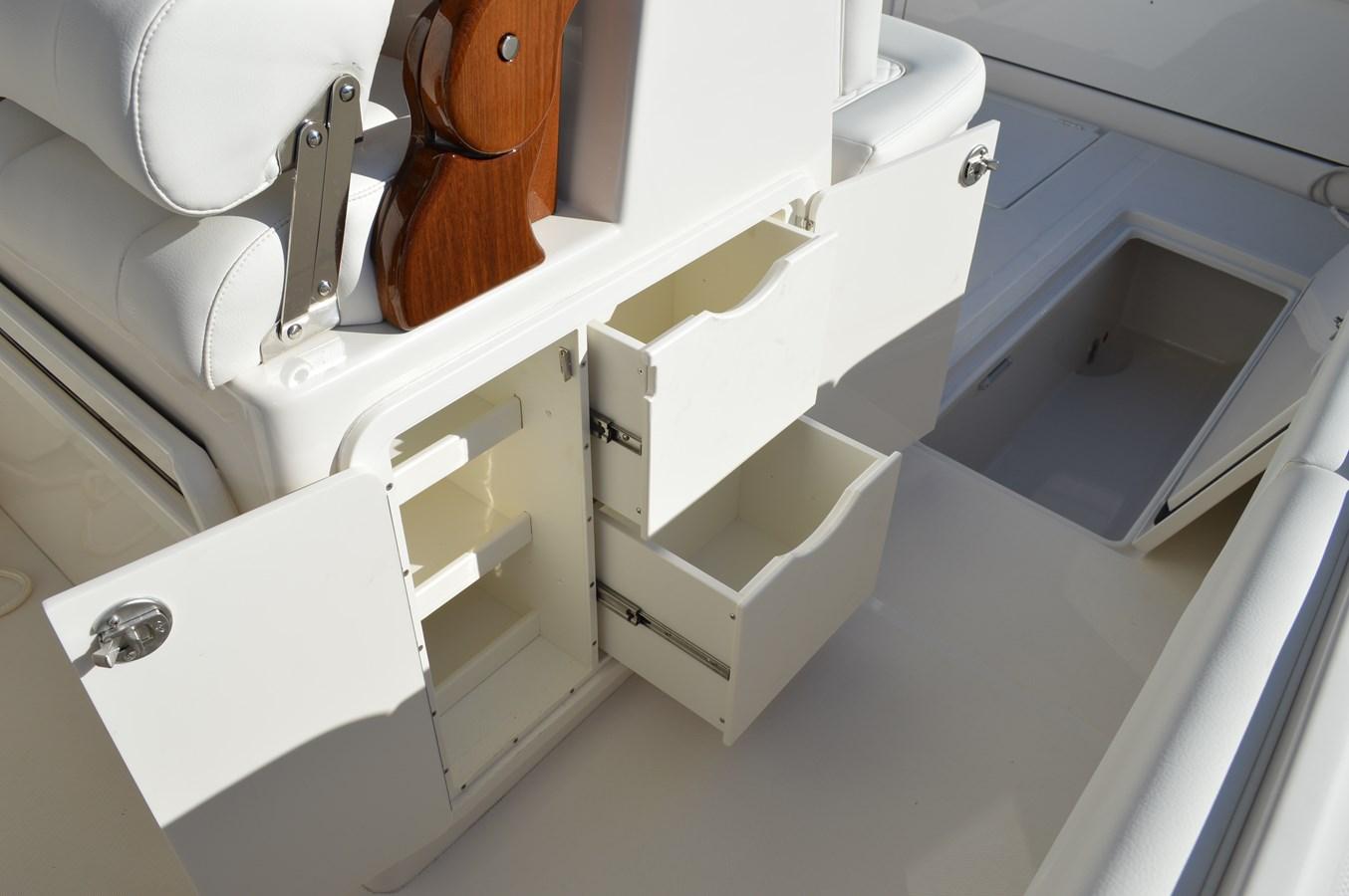 Extra Storage Beneath Helm Seats - 38 JUPITER For Sale