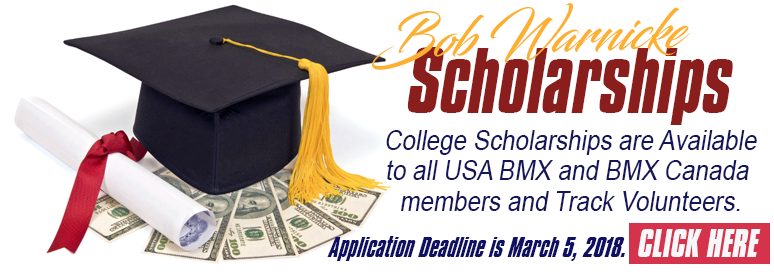 Bob Warnicke Scholarship Reminder