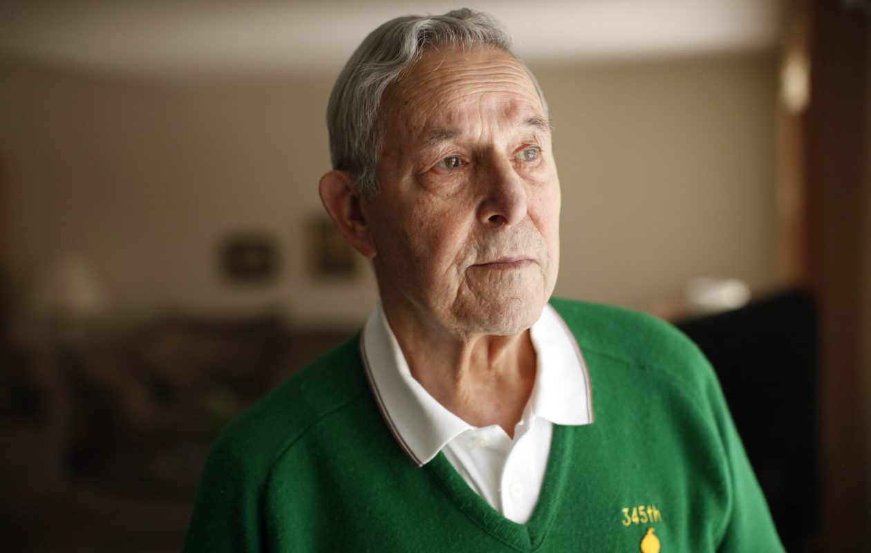 World War II veteran Oniel Cozzolino fought in the Battle of the Bulge with the 87th Infantry Division 'Golden Acorns.' (Derek Gee/Buffalo News)