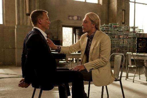 Daniel Craig, left, returns as James Bond and Javier Bardem is archenemy Raoul Silva in 'Skyfall.'