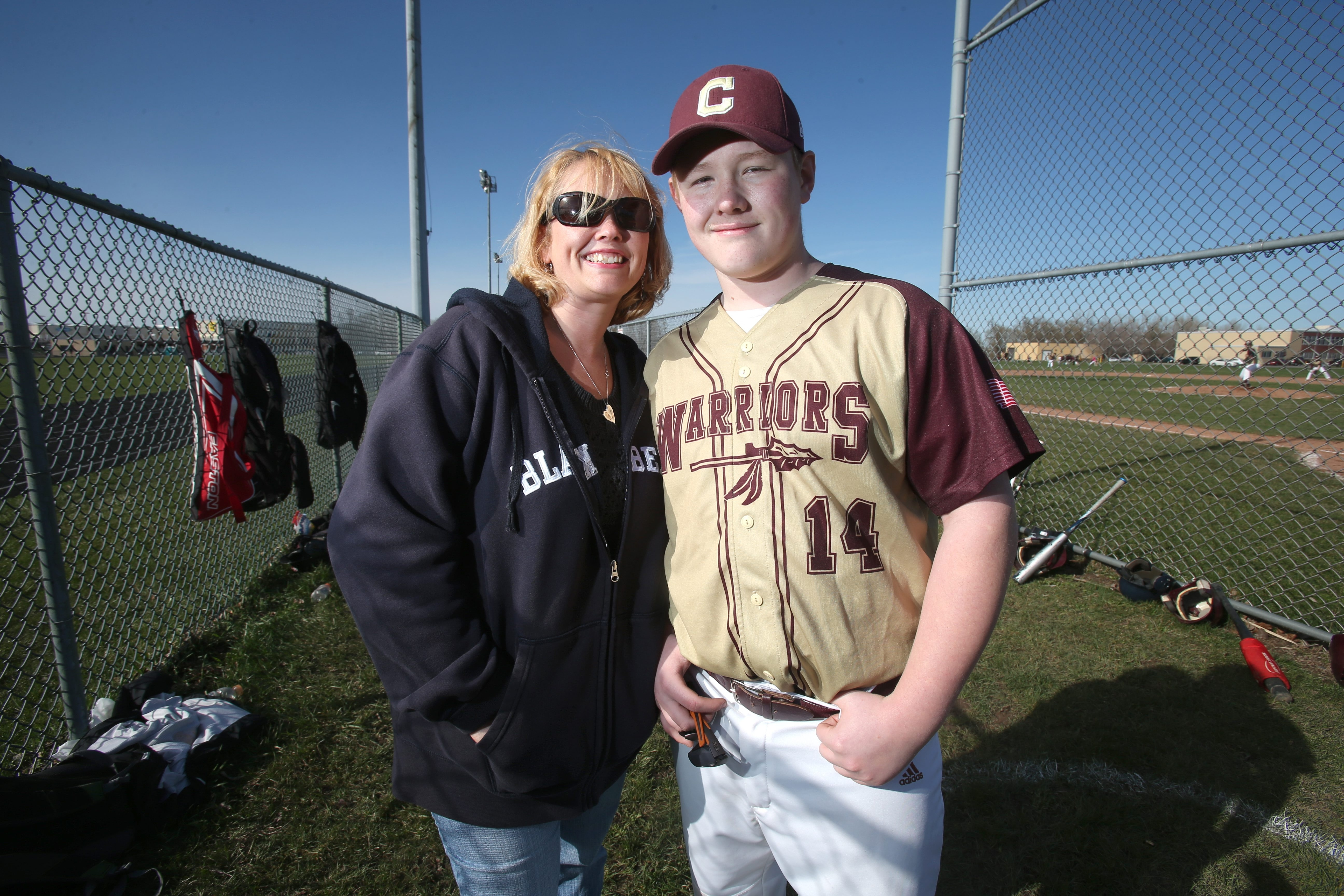 """""""I was scared,"""" says Dessie Bellinger about her son Austin Lee's injury. Three years later, Austin still has to avoid contact sports."""