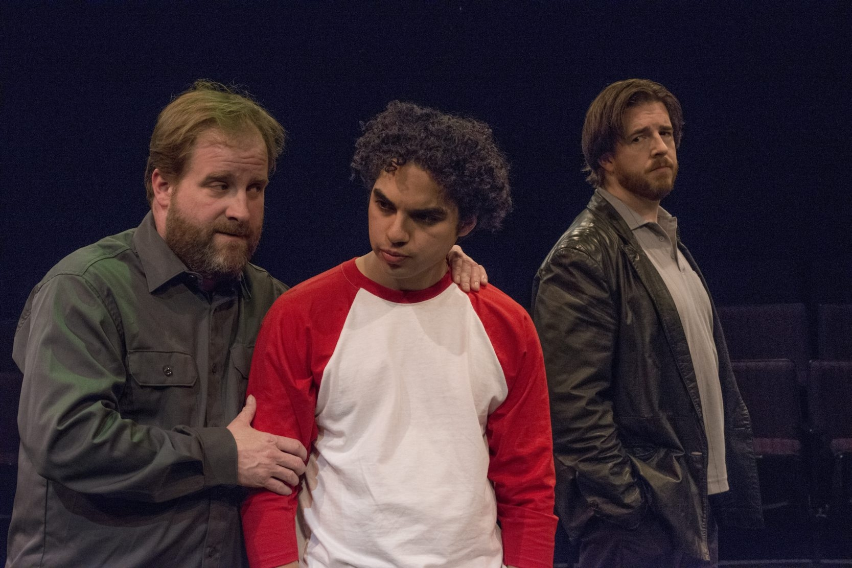 """From left, Christian Brandjes, Jose Rivera and Brian Mysliwy appear in the Irish Classical Theatre Company's """"American Buffalo."""""""