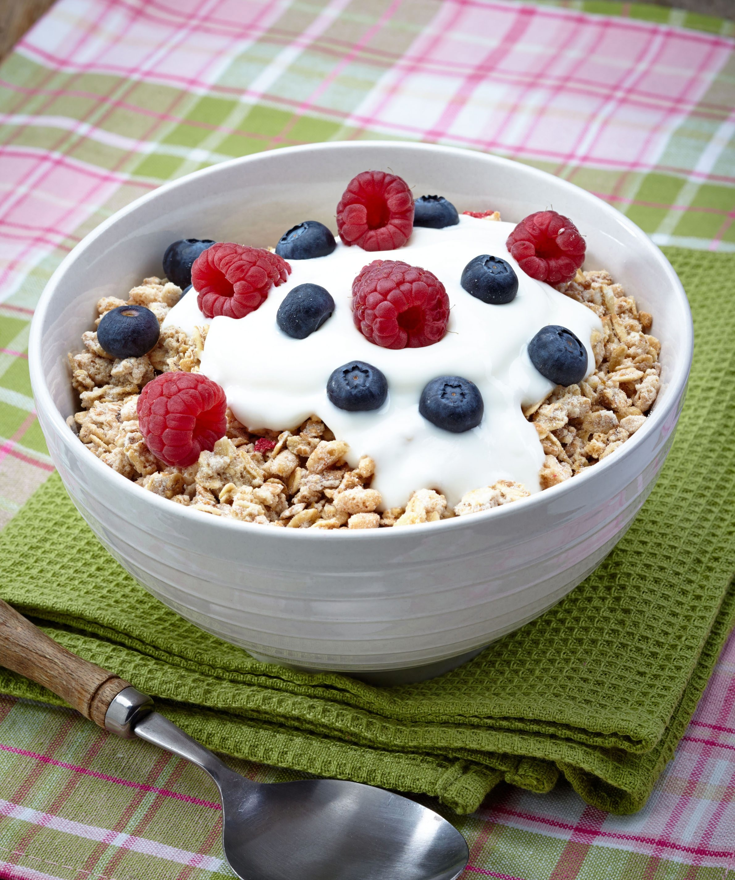 Many cereals use dried fruit coated with sugar. Better to add fresh or unsweetened dried fruit.