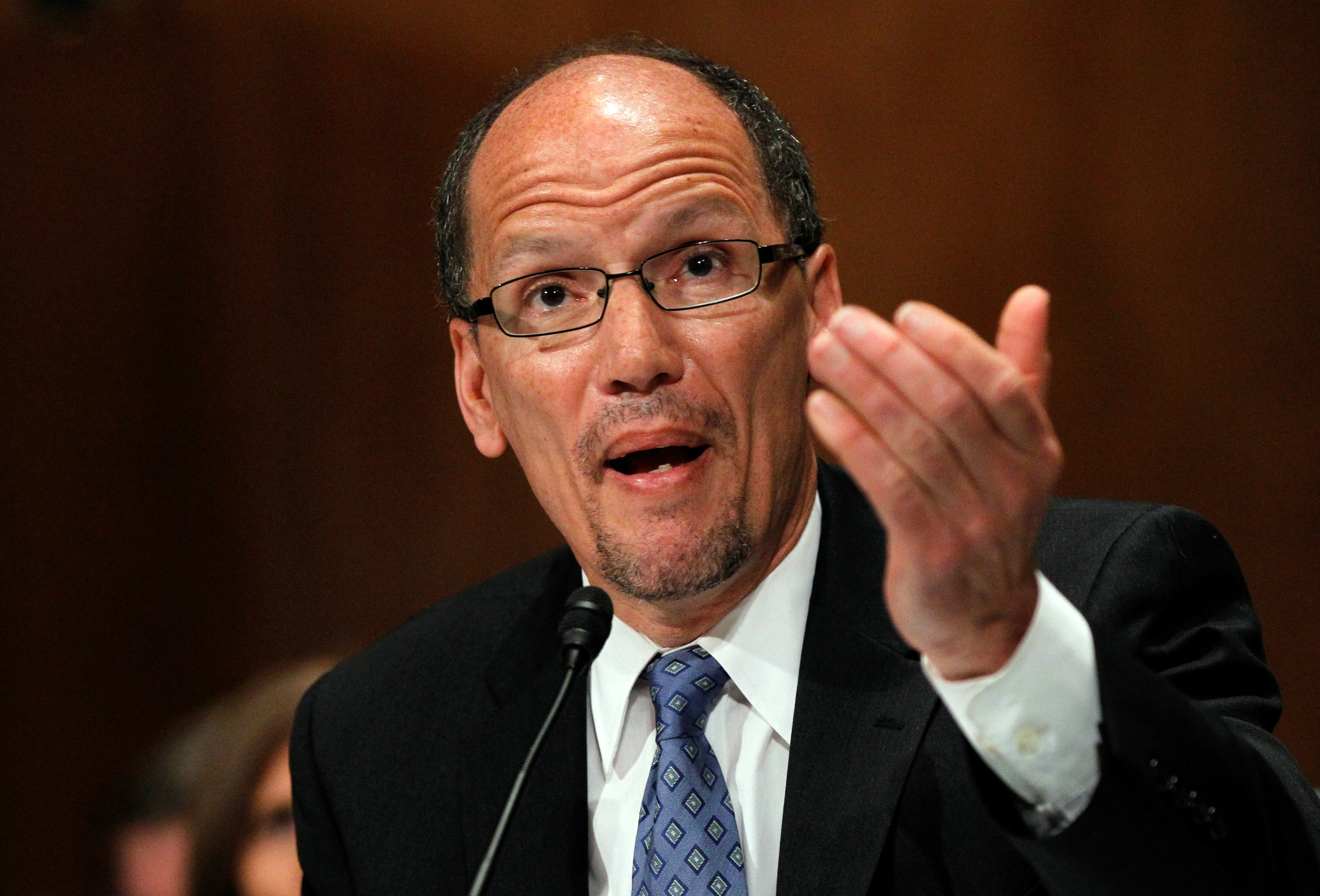 Labor Secretary nominee Thomas Perez said job creation and training would be his top priority.