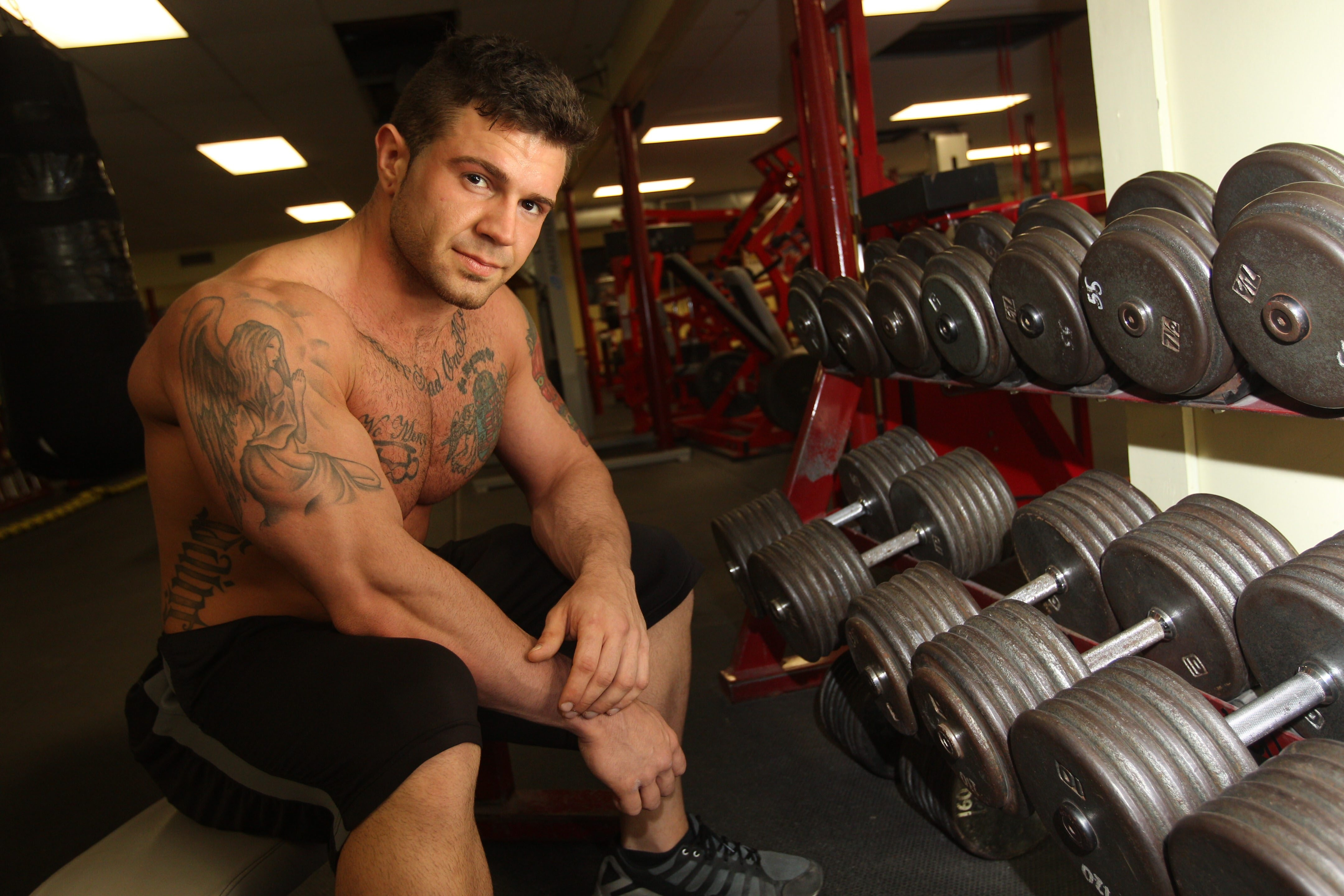 Scott Quinn, 23, of South Buffalo, is a bodybuilder who is training for the Mr. Buffalo competition, which takes place today.
