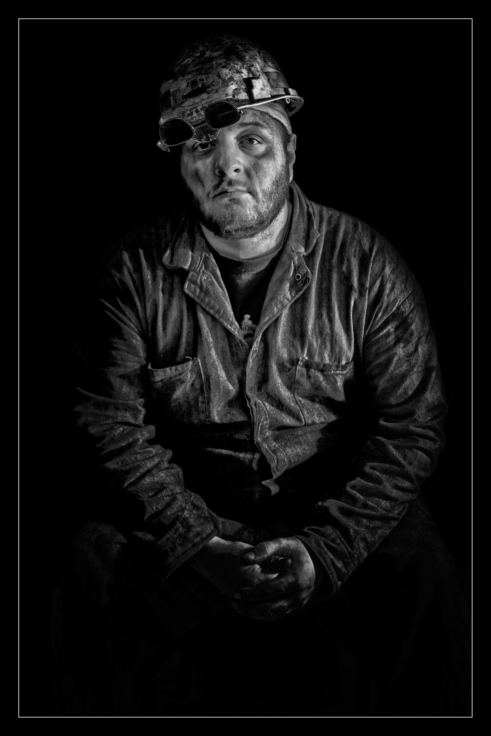 'The Steelworker,' a photograph by Phil Pantano on view as part of his exhibition 'The American Worker' in Main Street Studios.