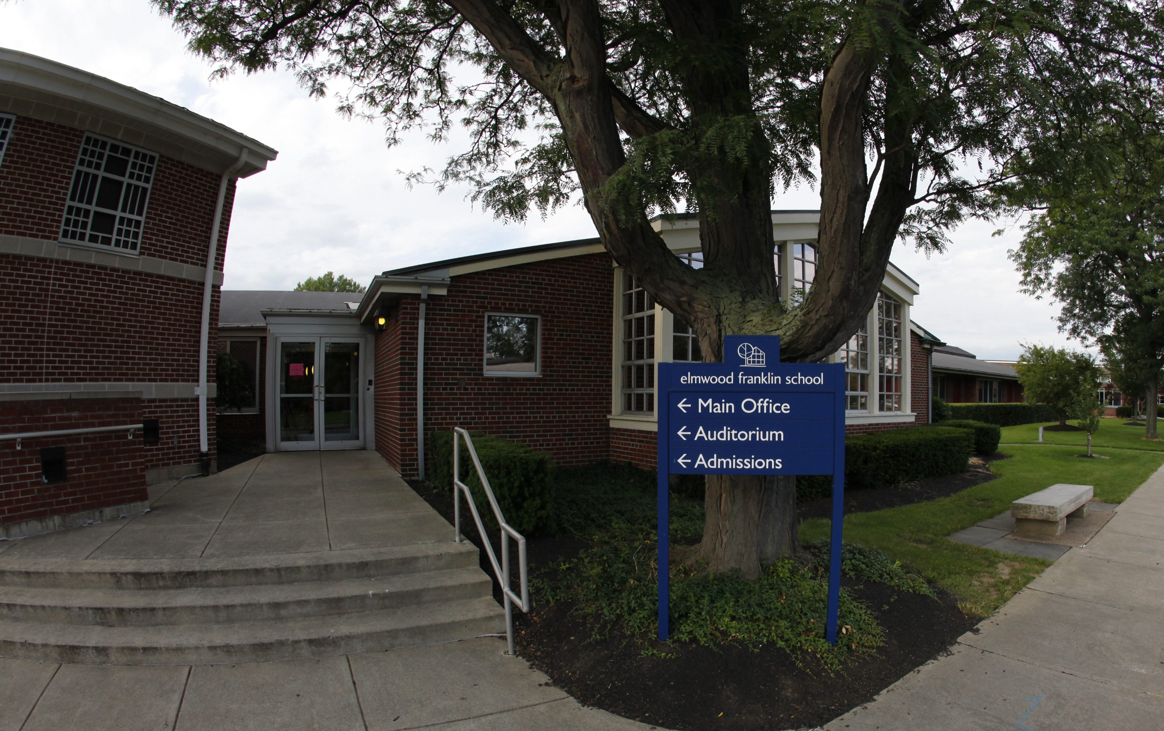 An exterior view of the Elmwood Franklin School.