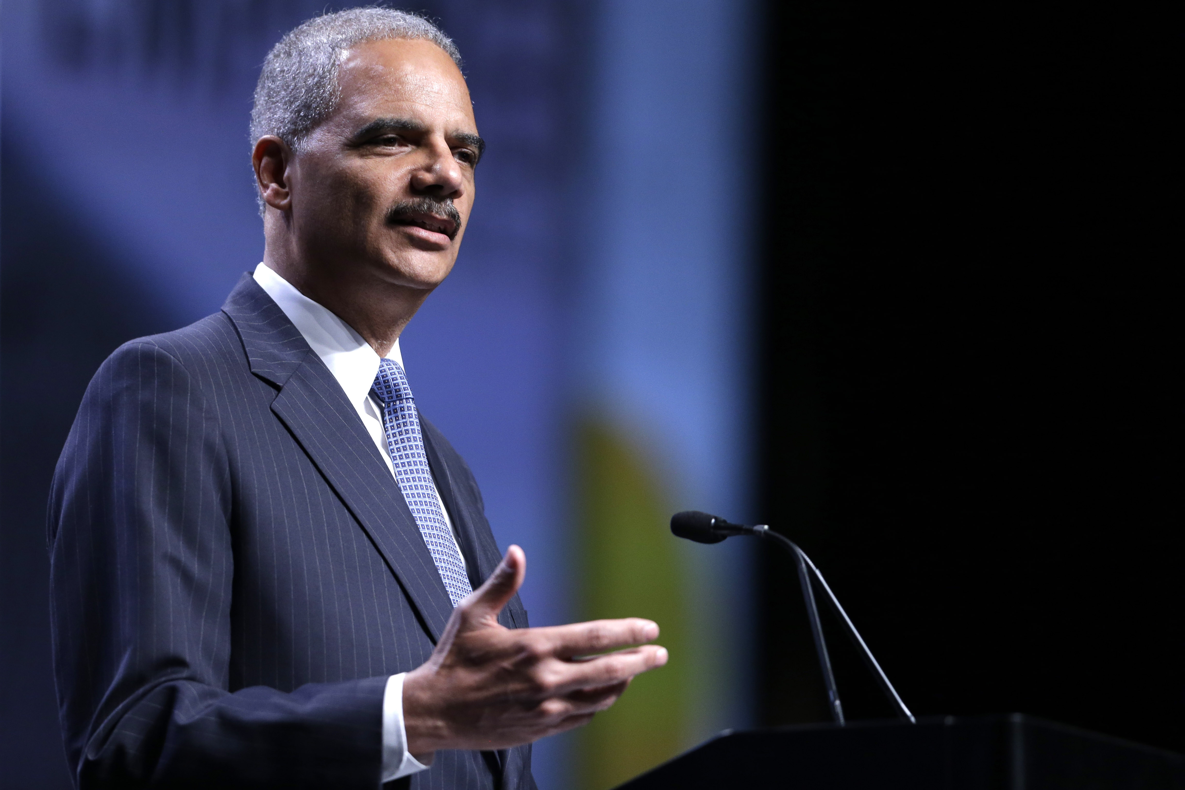 """Attorney General Eric Holder promised to protect the Voting Rights Act, calling it """"the cornerstone of modern civil rights law."""""""