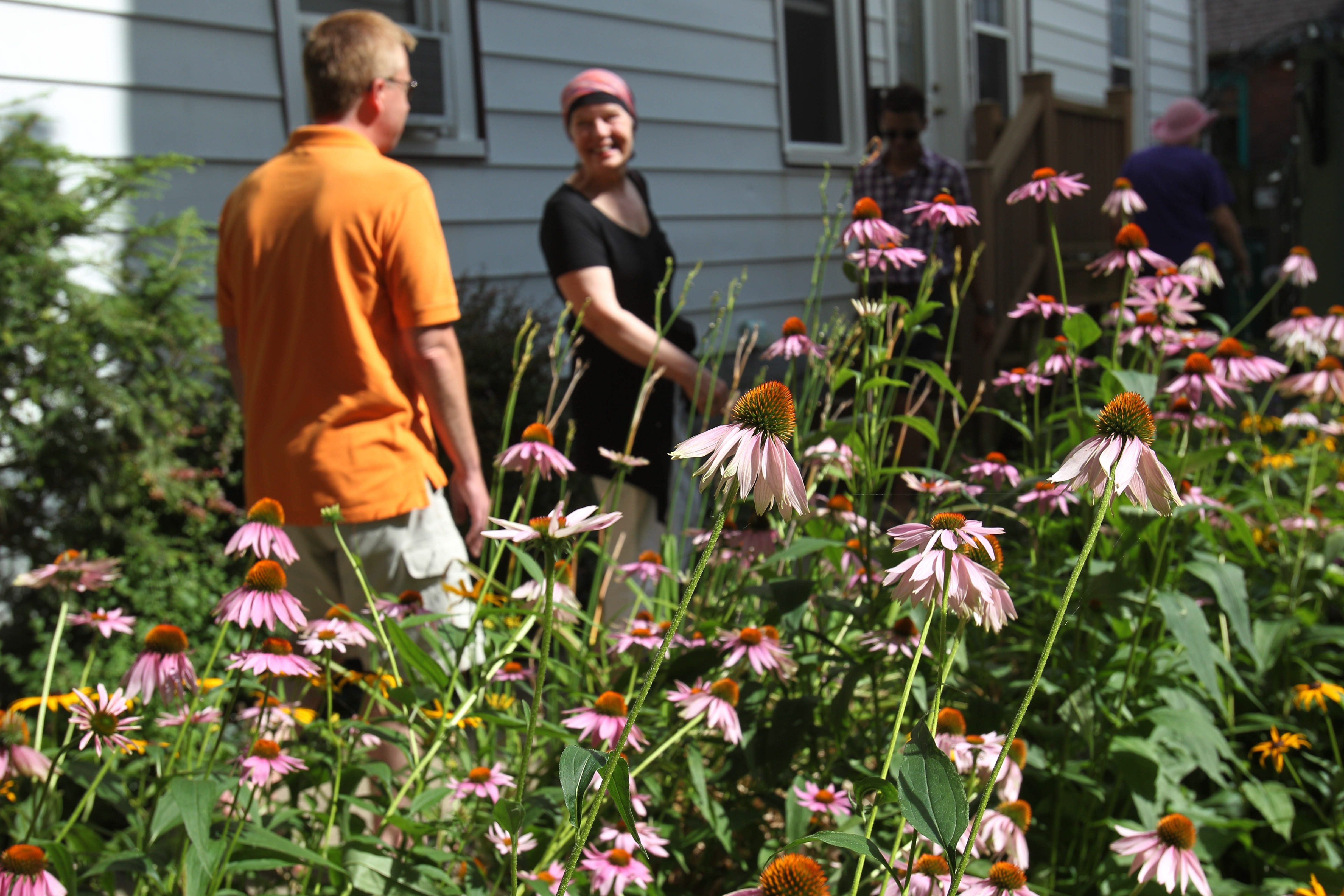 It was lovely weather for the Garden Walk's second day at Ellie Dorritie's front yard on Summer Street. Many of the 60,000 estimated attendees, a larger turnout than last year's, according to organizers, stopped to admire Dorritie's garden during the two-day event.