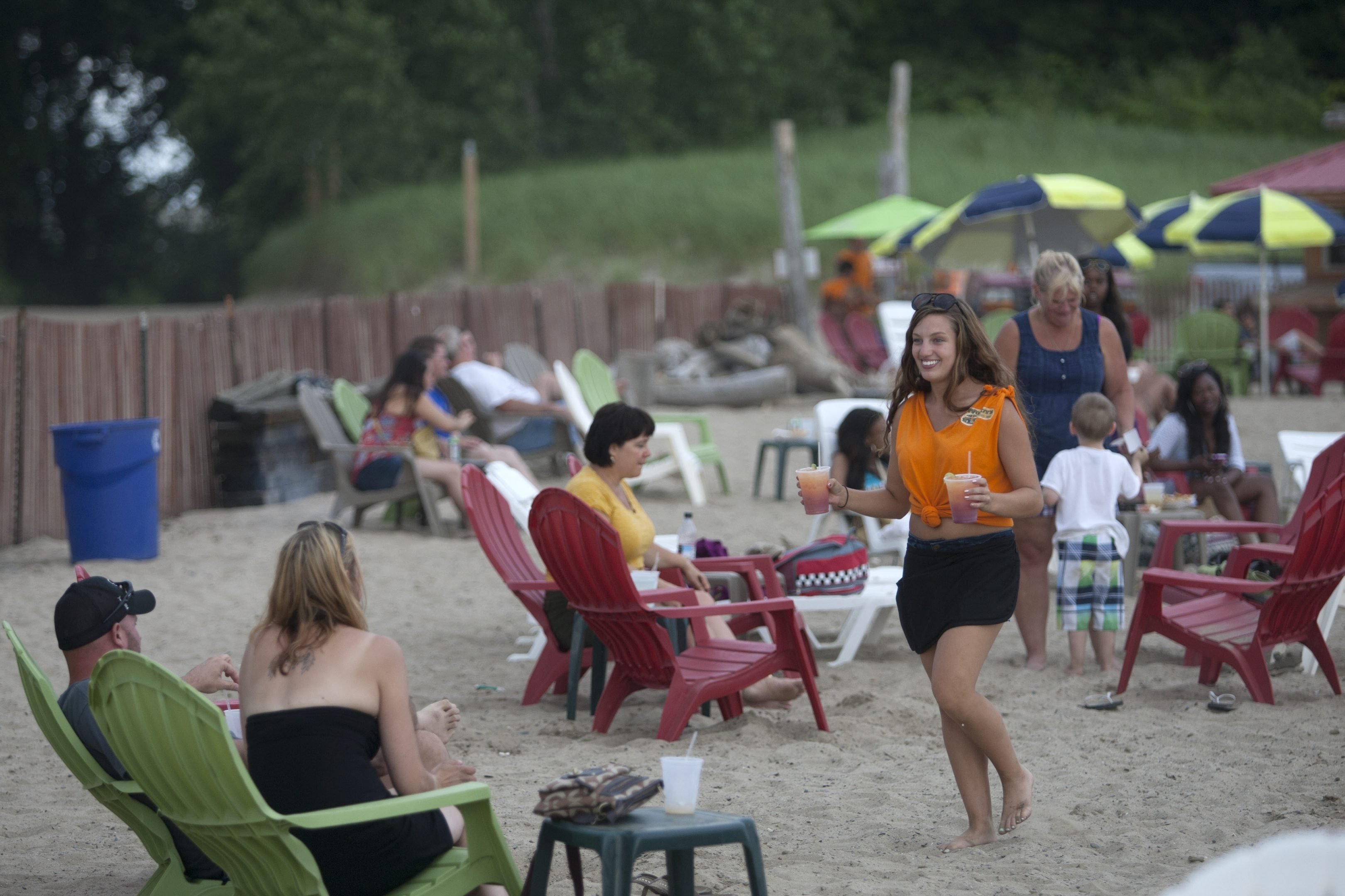 Woody's Beach Club and Taqueria combines one of the best beaches within 15 minutes of downtown Buffalo and an eatery serving up tacos, margaritas and more with a scene that transplants a bit of Baja California to the lakeshore.  (Matthew Masin/Buffalo News)Wood