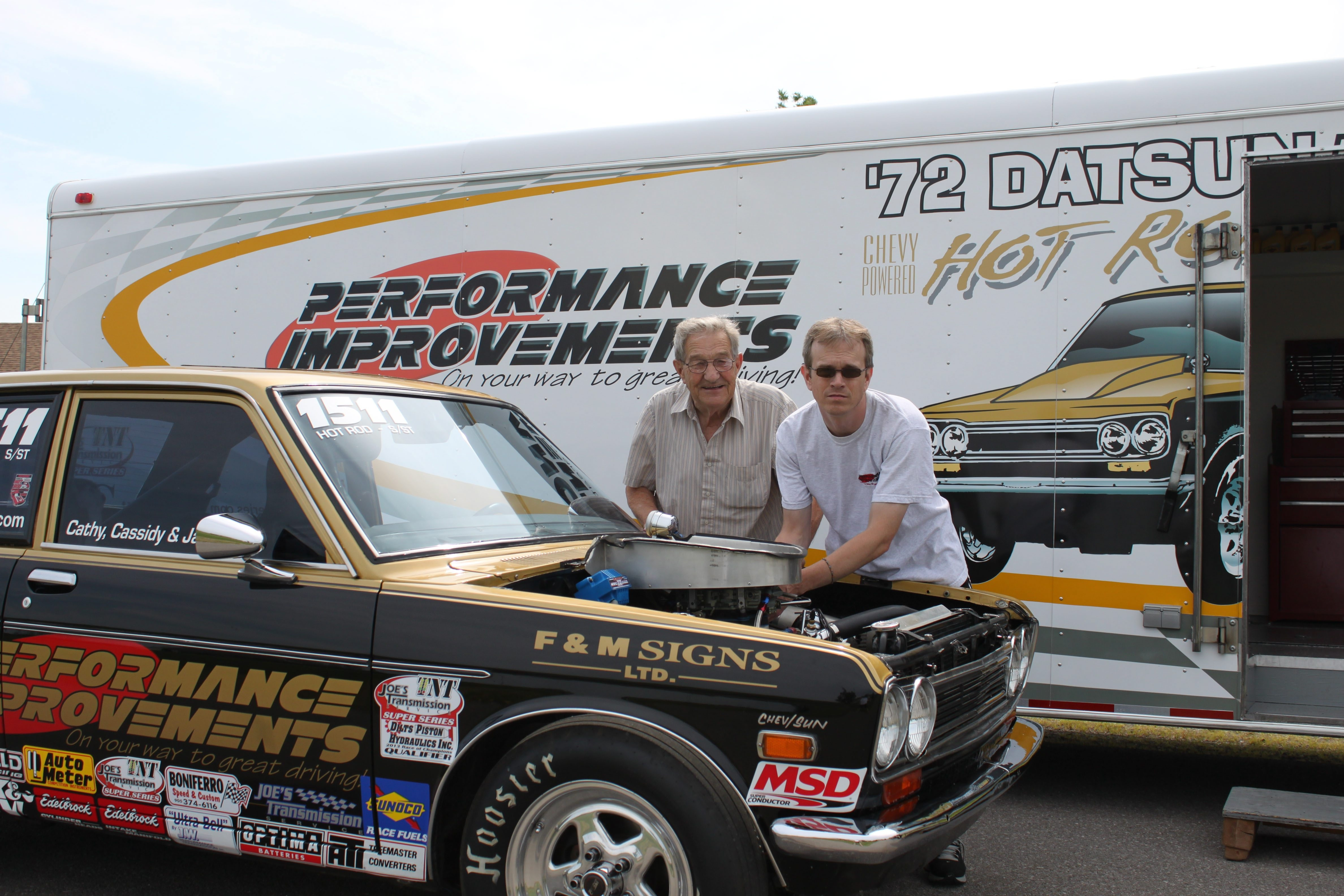 TNT series founder Ted Barnes, right, and his father, Bill, are looking to a busy weekend.