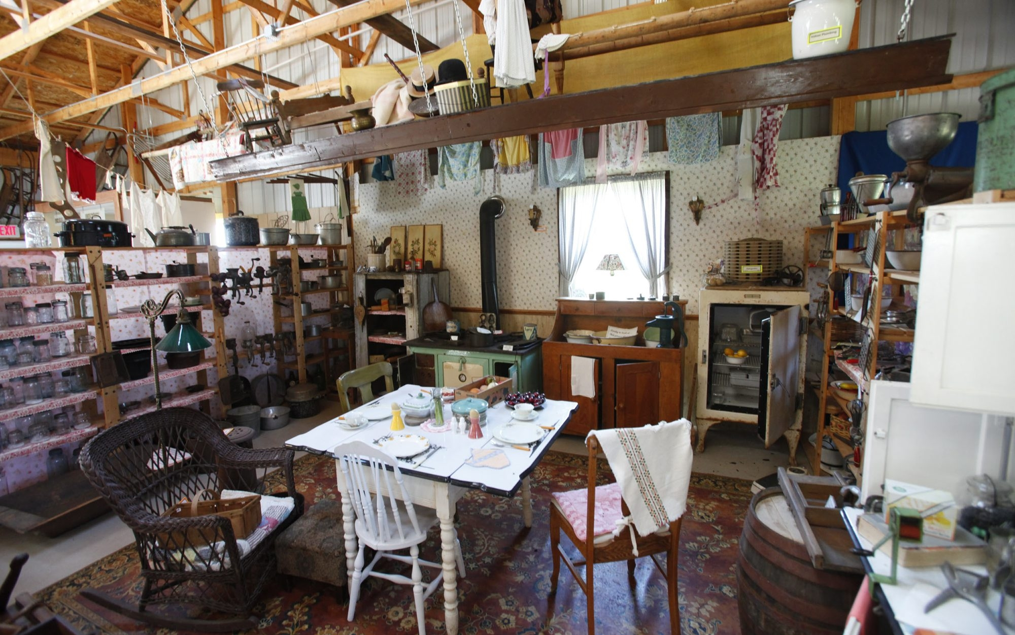 The antique kitchen at the Sanborn Area Historical Society Farm Museum.