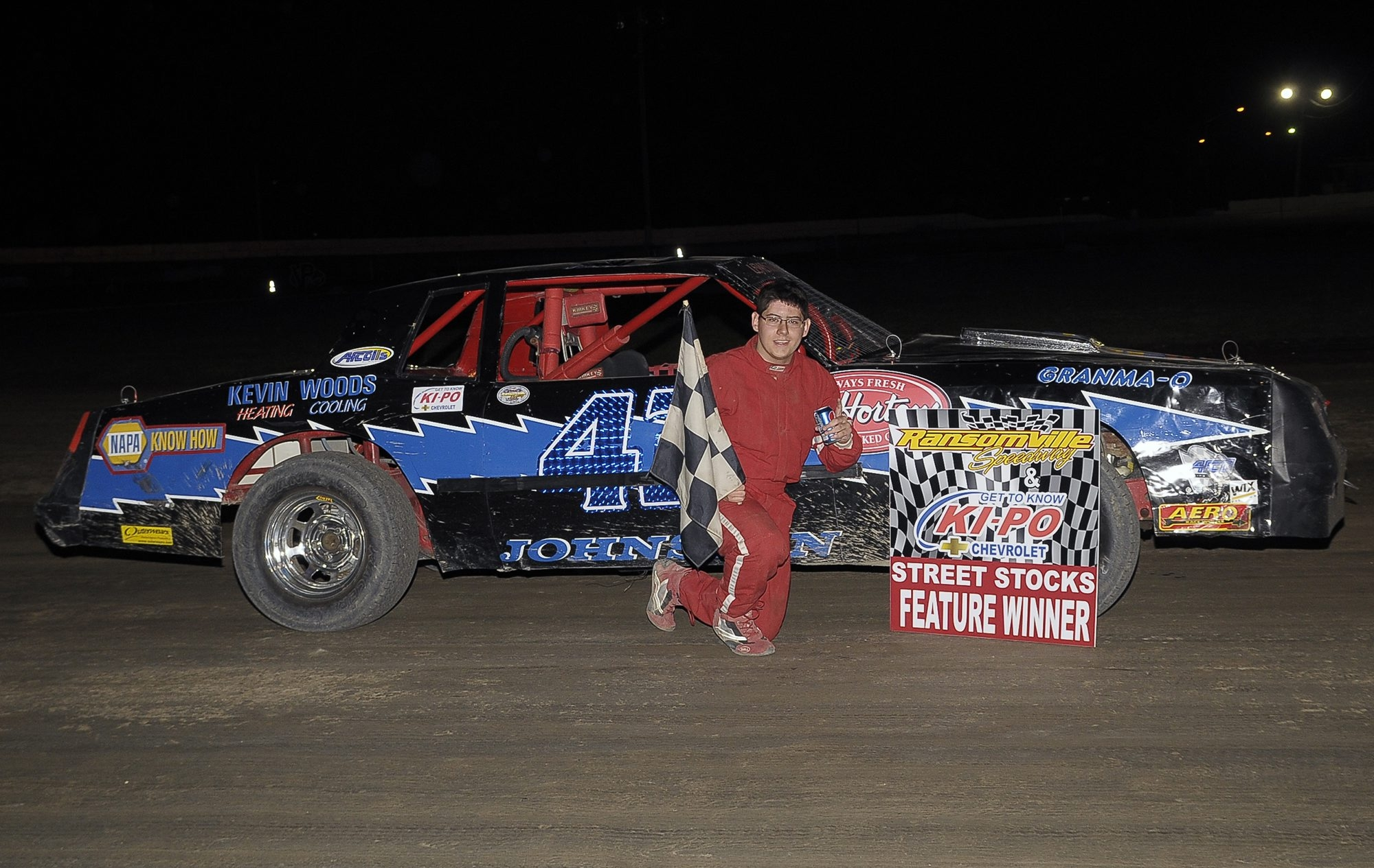 Driver Jesse Johnston recorded his first career Street Stock win at Ransomville Speedway in June.