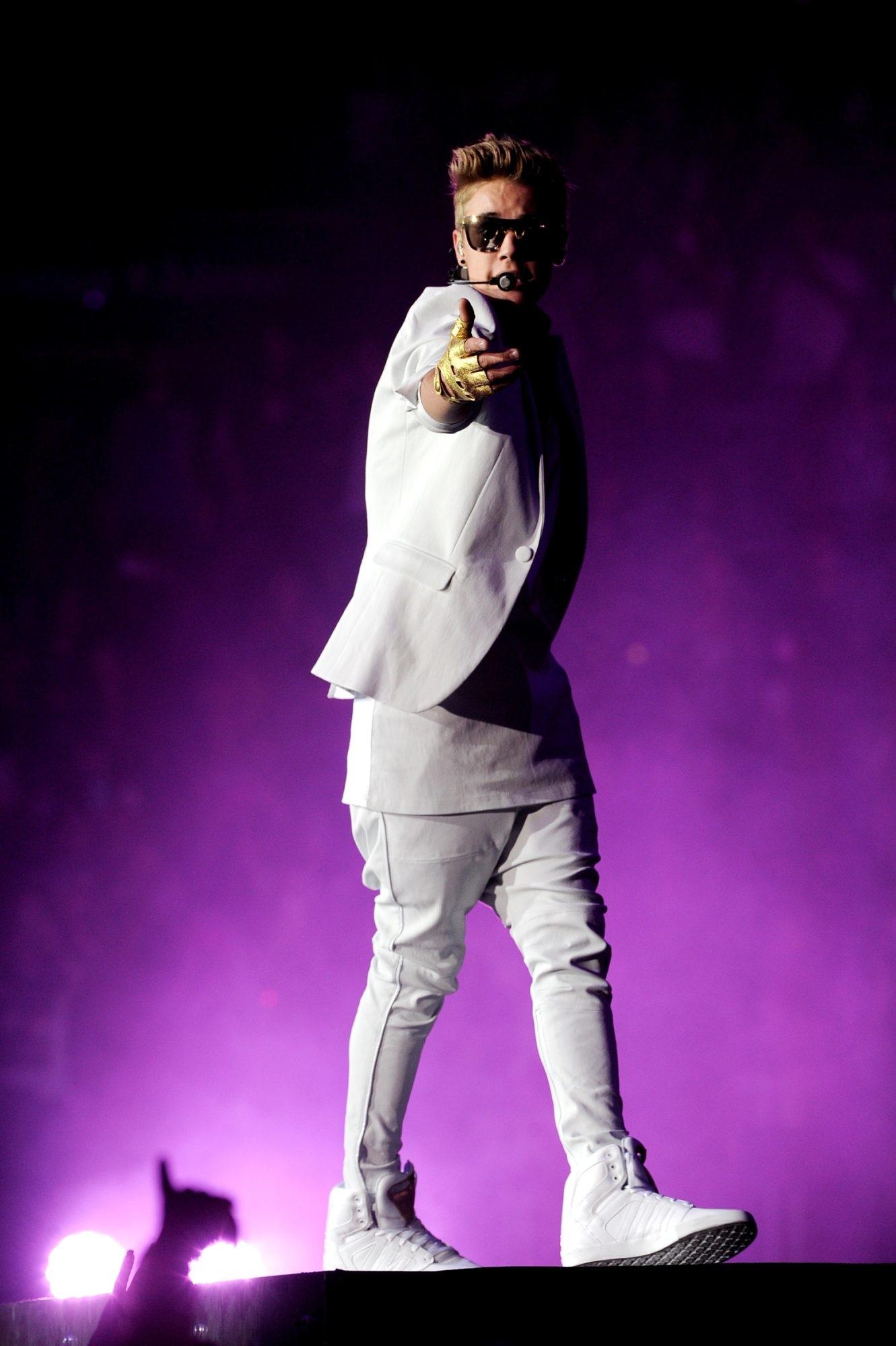 Singer Justin Bieber is playing First Niagara Center tonight.