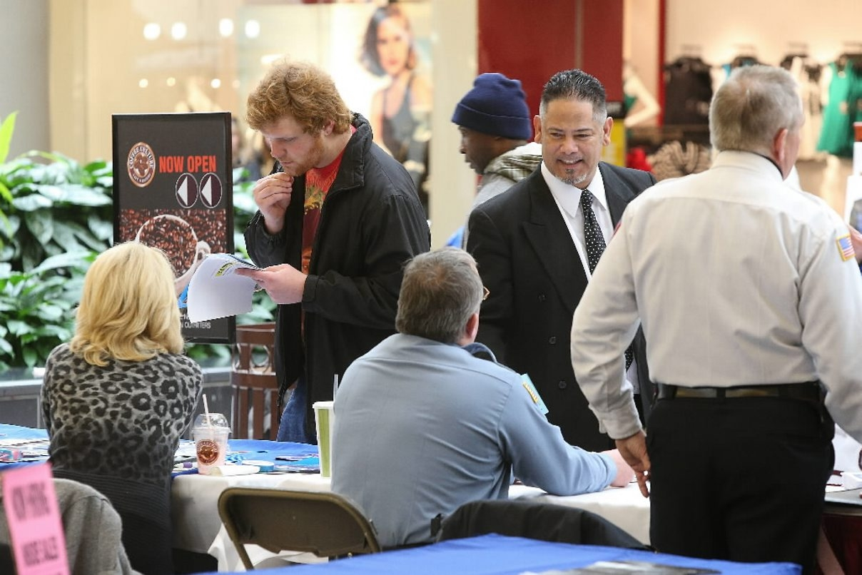 A job fair at the Walden Galleria sponsored by the Cheektowaga Chamber of Commerce drew crowds earlier this year.