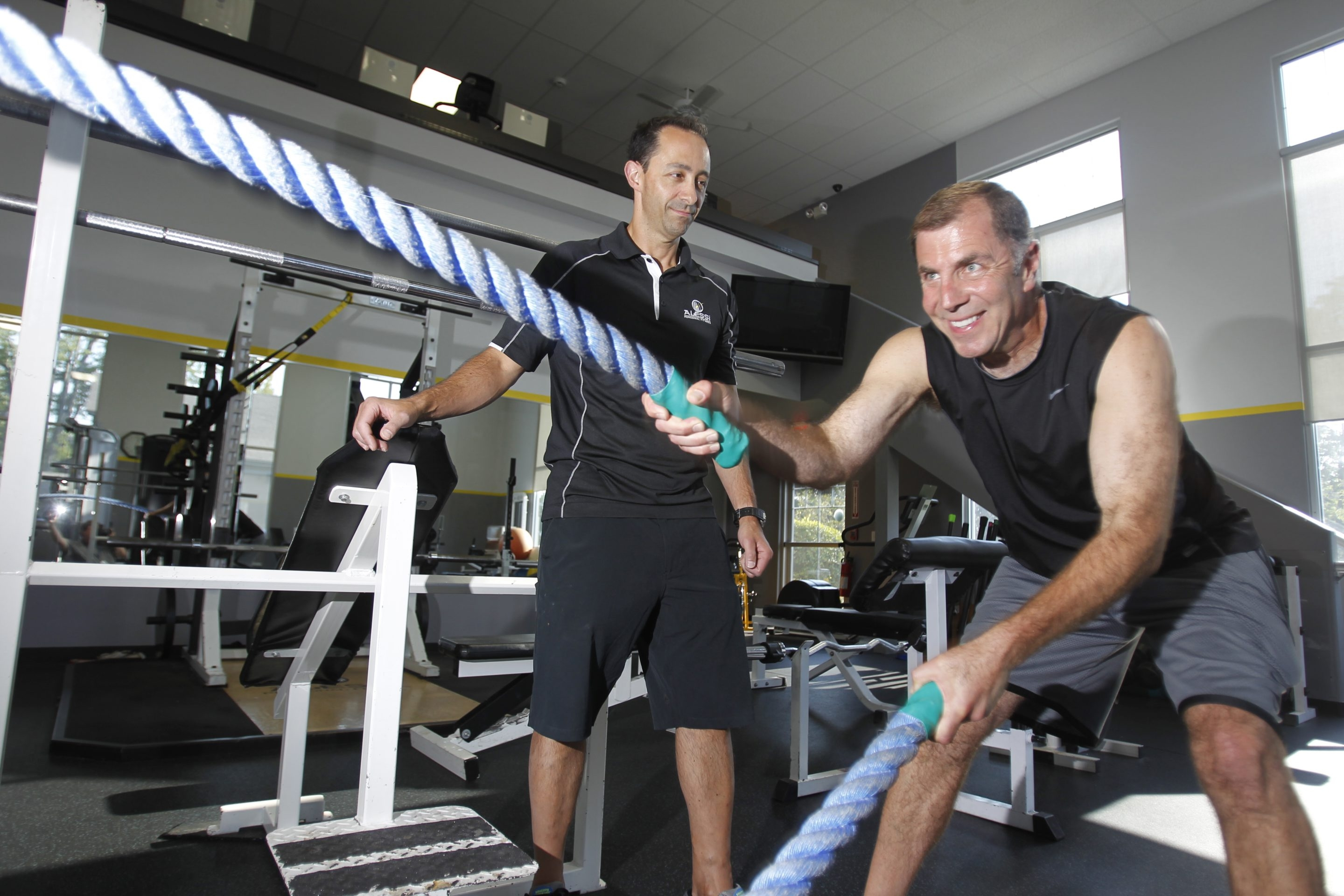 Drew Cerza has been working out with Derek Alessi at Alessi Fitness in Clarence as part of his new strategy for healthier living.