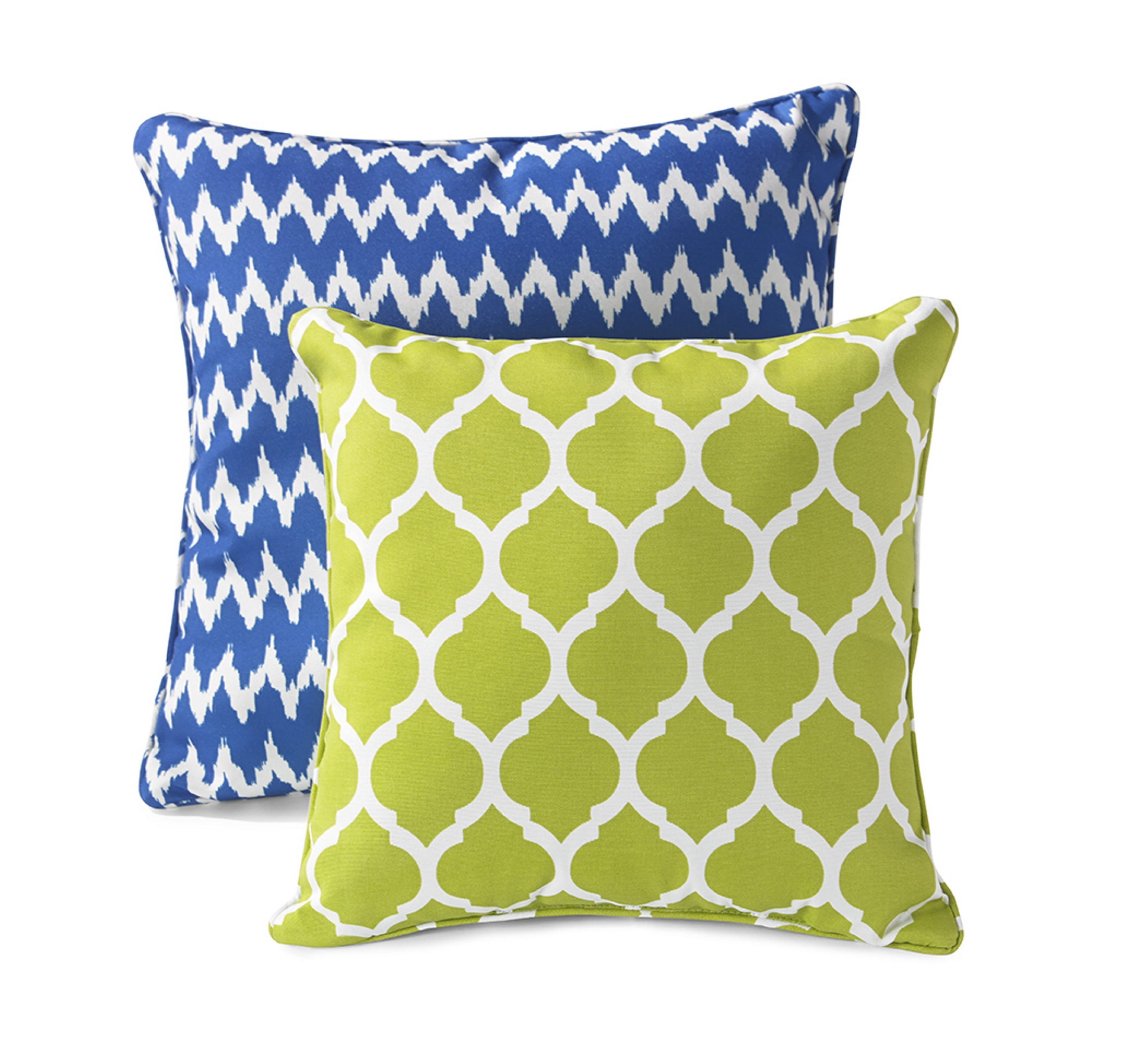 IT'S A TOSSUP: Left, accent pillows, such as these from HomeGoods, are just what a boring rooms needs. Right, 3M   Command™ Timeless Hook in Brushed Nickel.