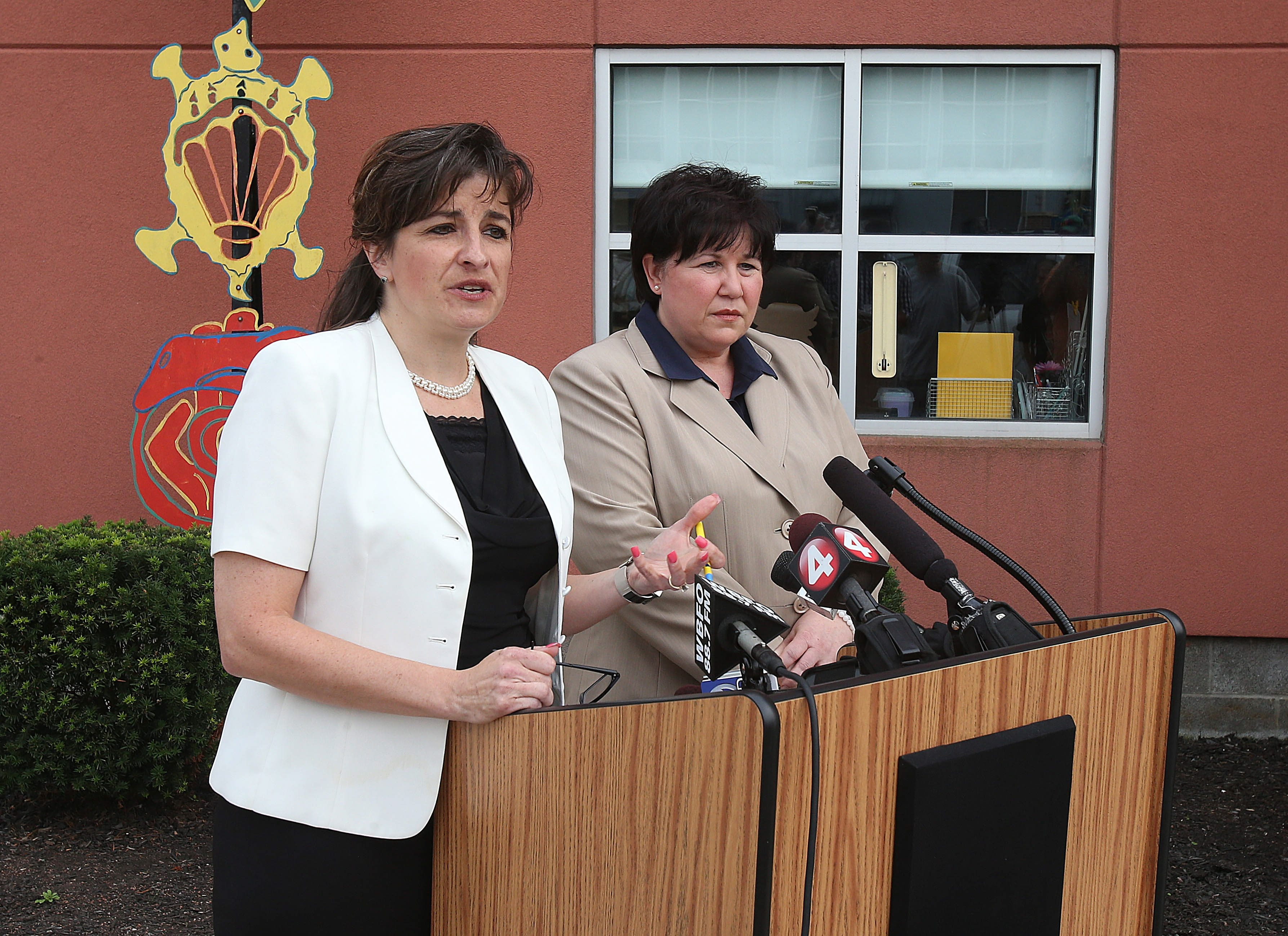 Pinnacle's Chief Academic Officer Linda Marszalek, left, and attorney Lisa Coppola cite student progress and are working to try and keep the school open.