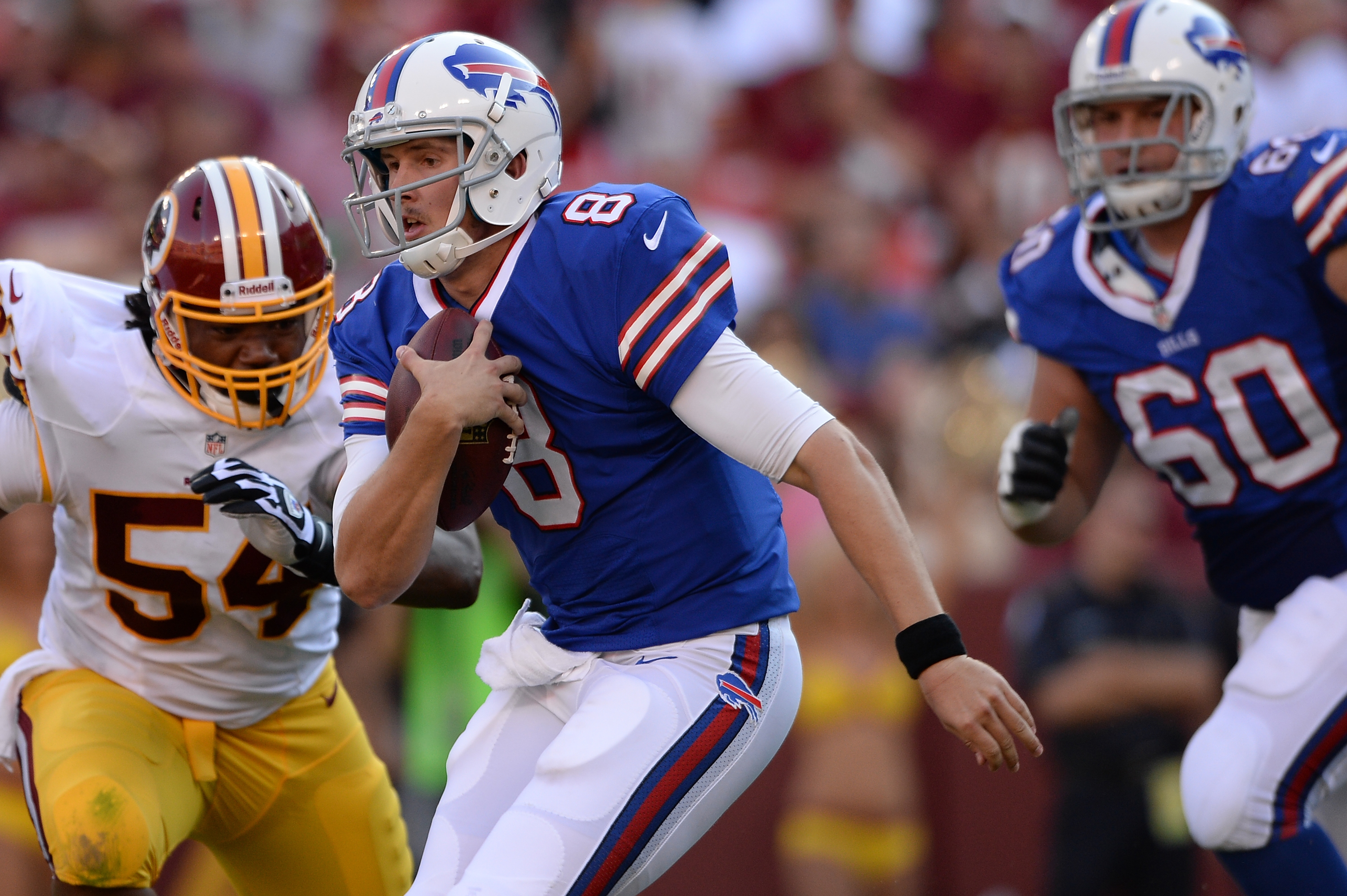 Undrafted free agent Jeff Tuel is the only healthy quarterback on the roster after Kevin Kolb was knocked out of Saturday's game.
