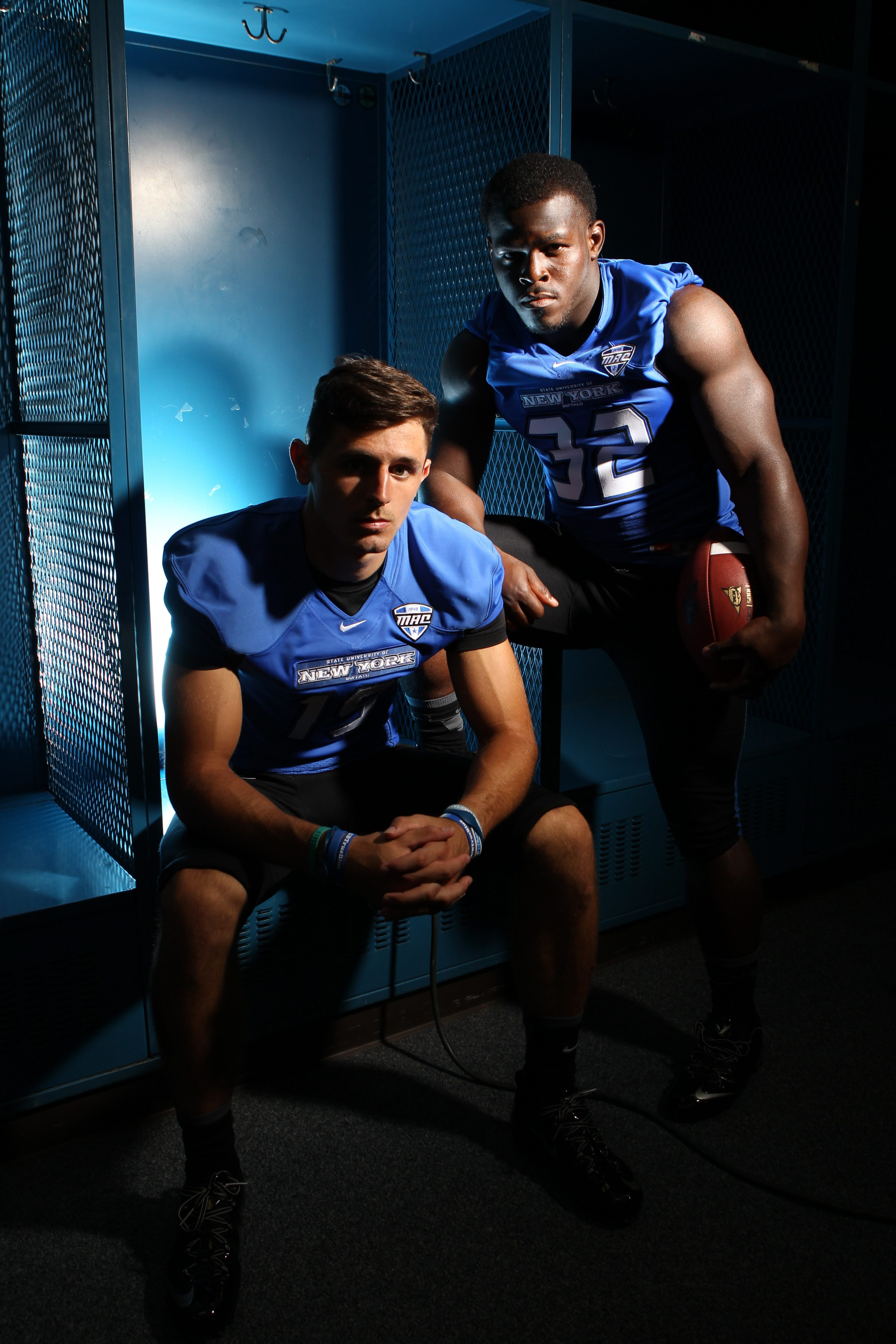 Alex Neutz, left, and Branden Oliver are two of the most prolific producers in UB history.