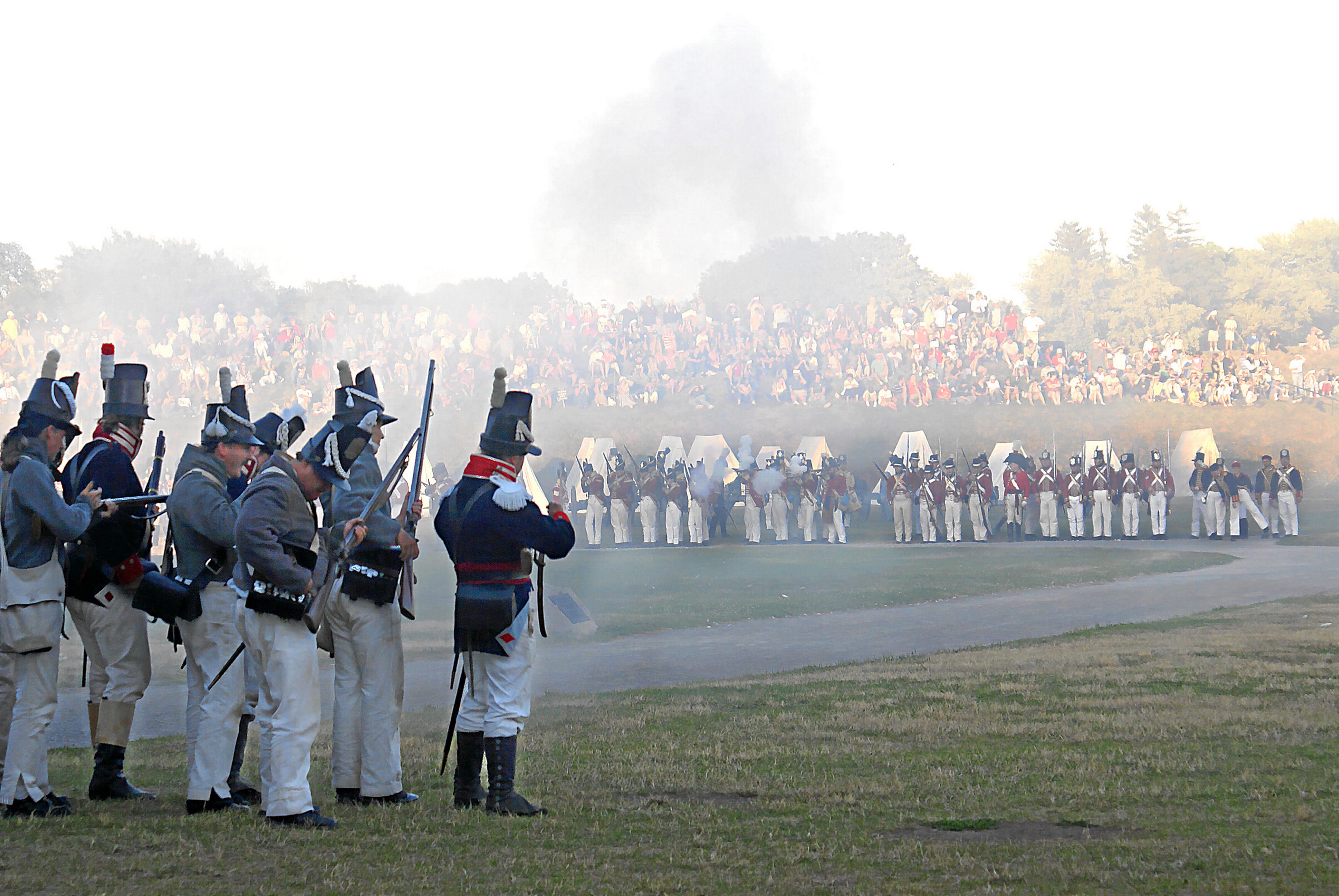 One line is fine for this photo … Fort Niagara battle reinactment.