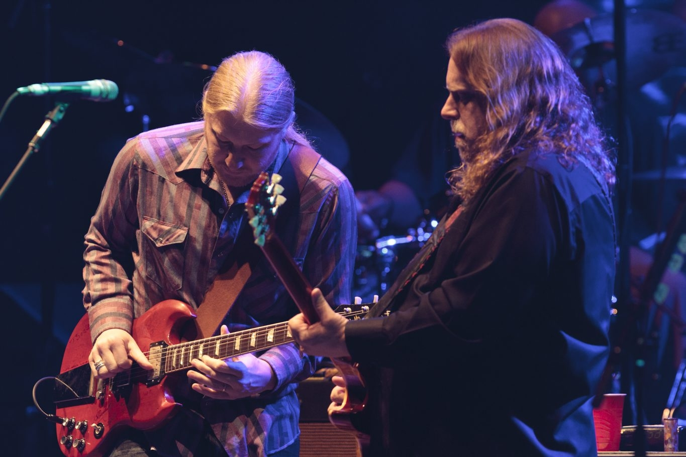 Getty Images  The Allman Brothers, with Derek Trucks, left, and Warren Haynes, performs Friday at the Darien Lake Performing Arts Center.