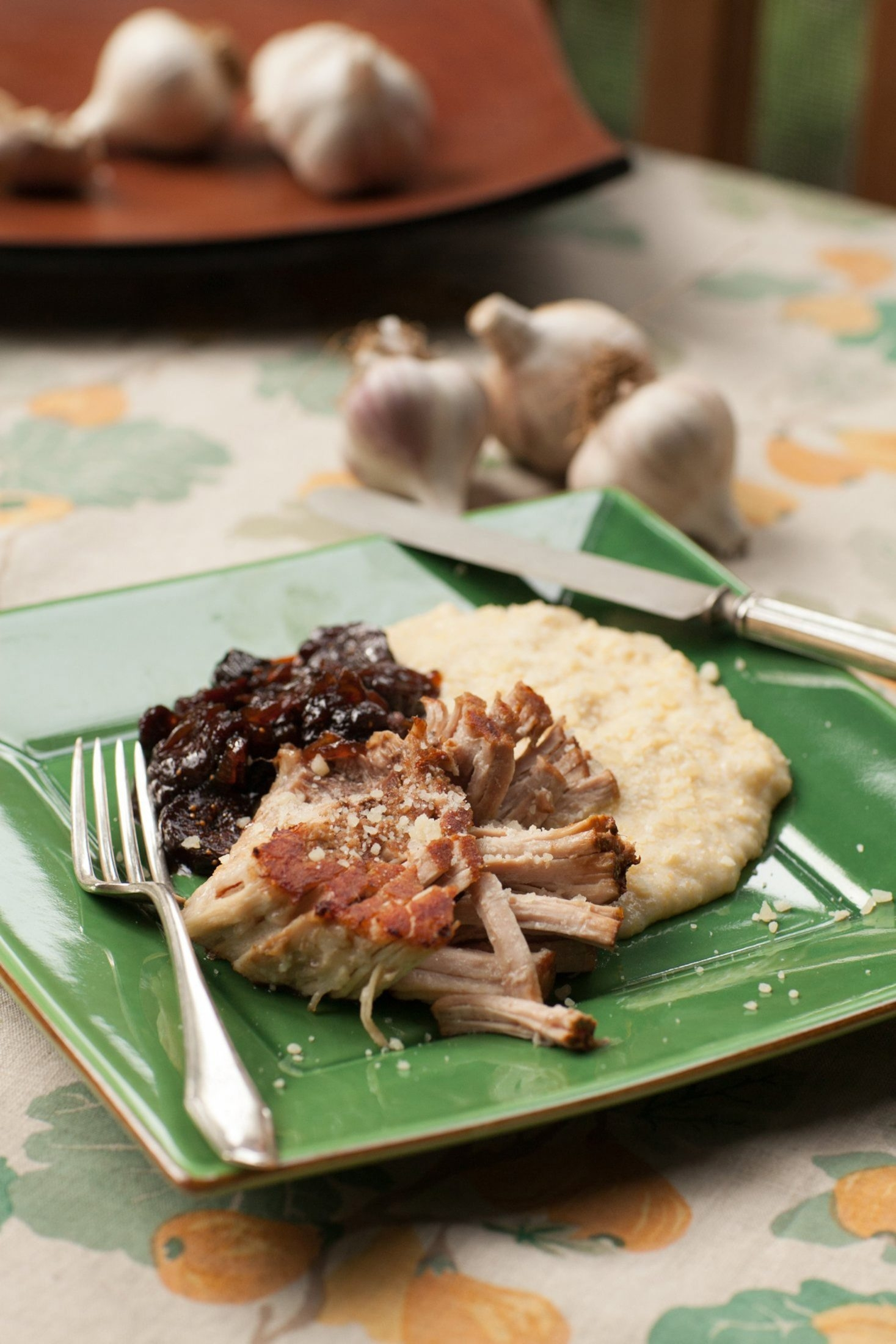 Pork Shoulder with Fig Chutney and Creamy Polenta is just one of the many recipes infused with the flavor of garlic.