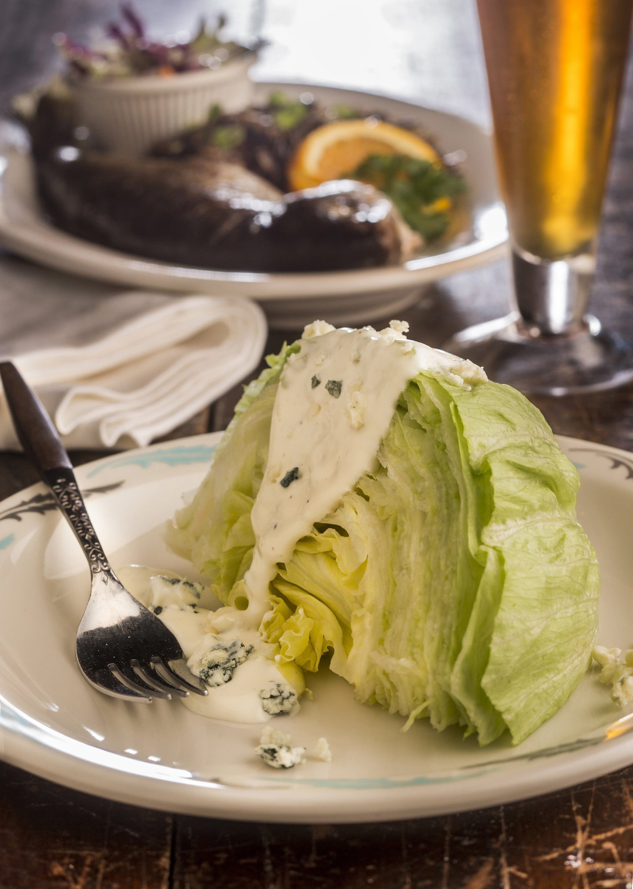 Supper club restaurants, found more in the Midwest, feature home-style food and are so retro they border on hip. Recreate this at home with dishes such as this lettuce wedge with bleu cheese dressing. (Bill Hogan/Chicago Tribune/MCT)