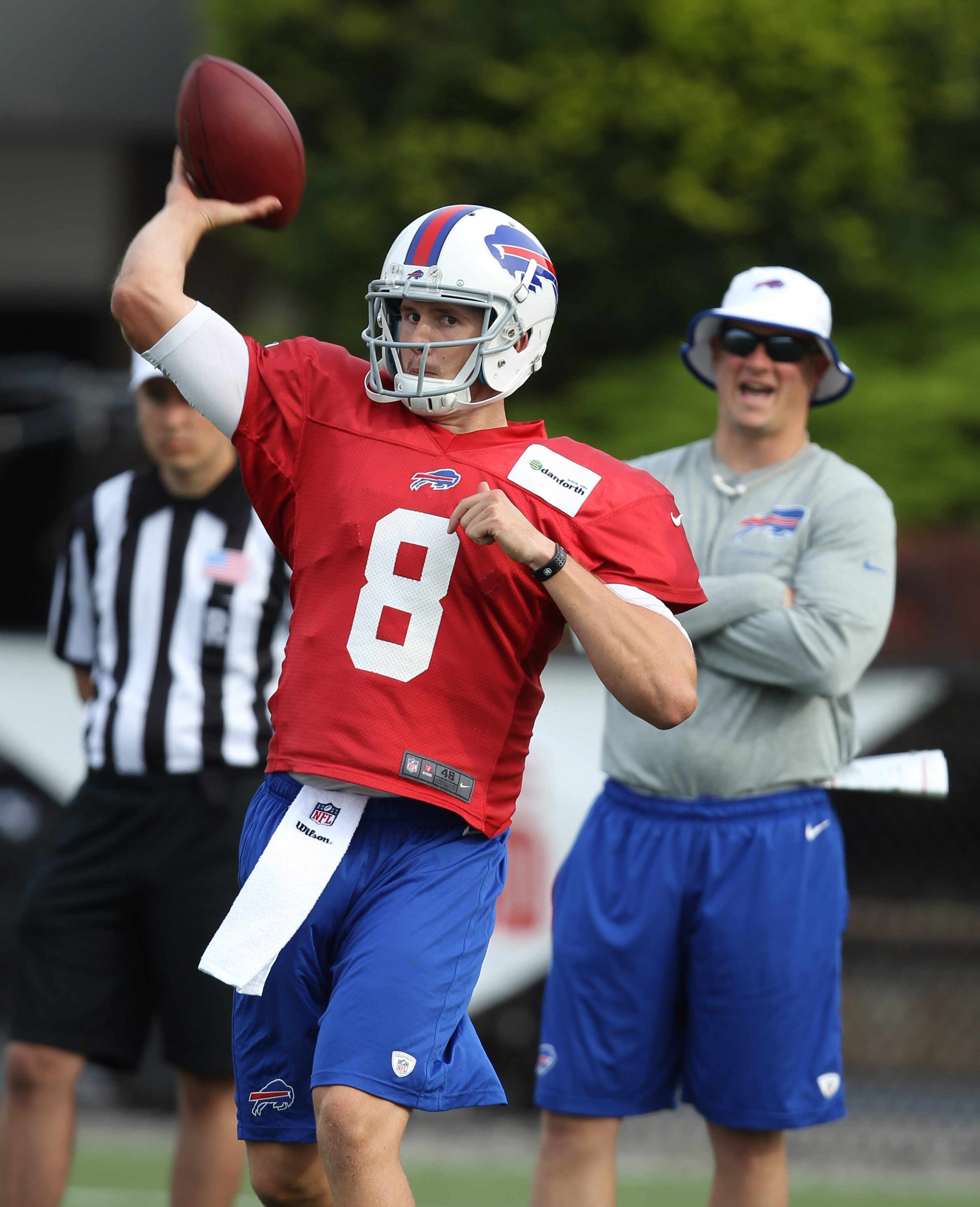 Jeff Tuel gets another chance to work as the Bills' No. 2 quarterback, this time because of EJ Manuel's injury.