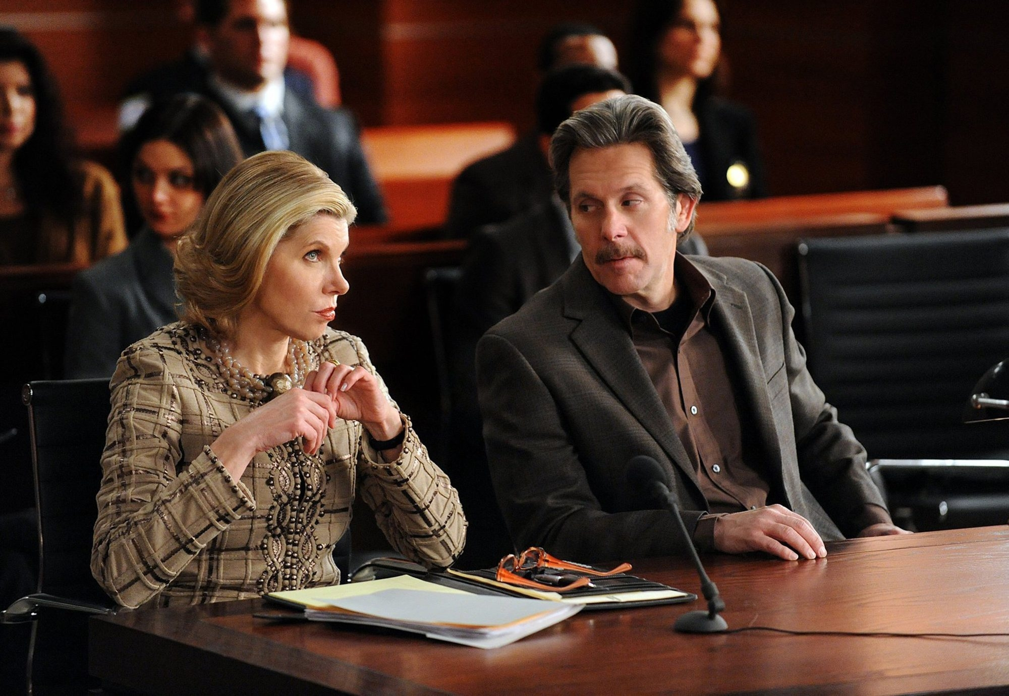 """Cary Cole, right, stars with Christine Baranski on """"The Good Wife."""""""