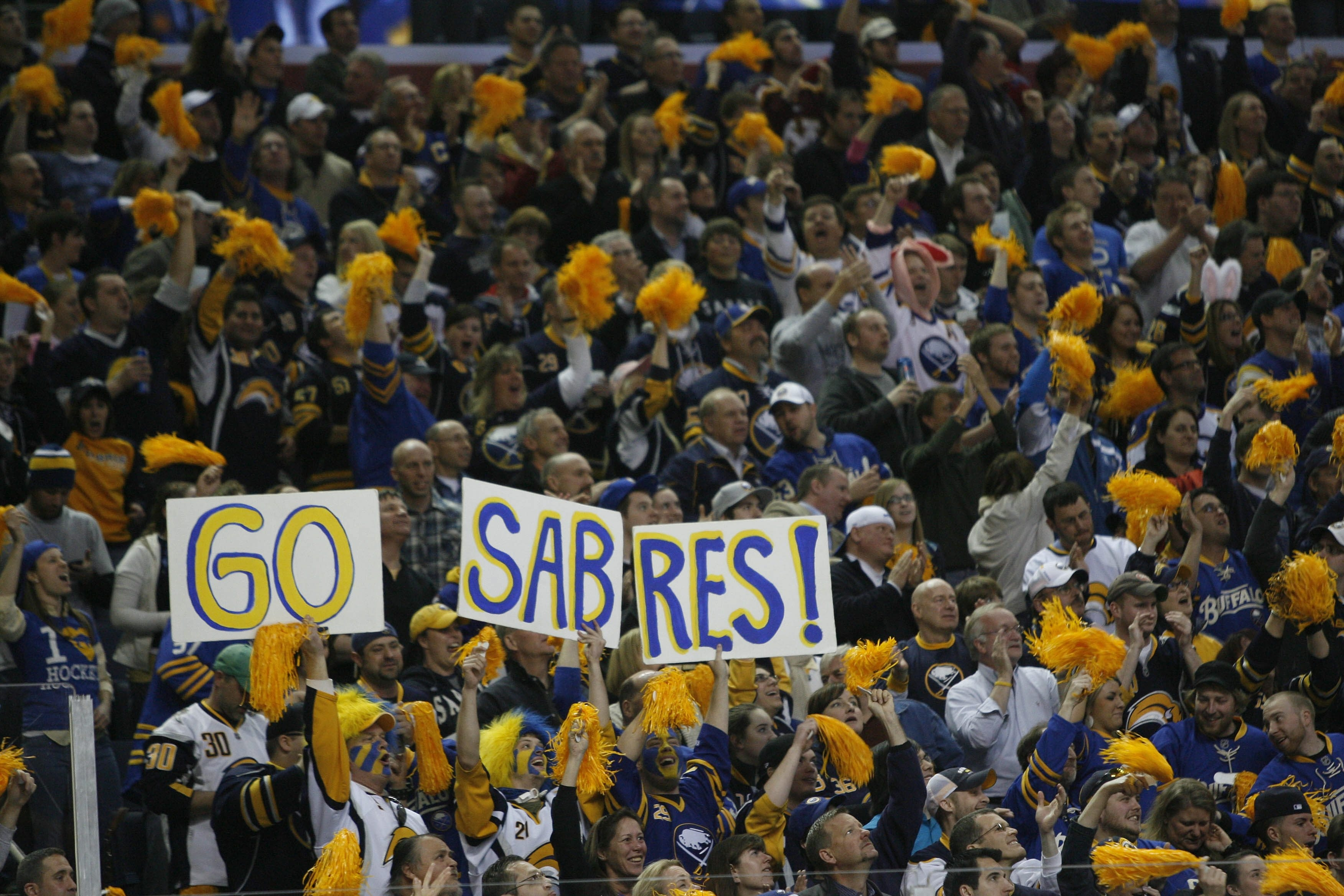 Buffalo Sabres fans renewed their season tickets at a 97 percent rate.