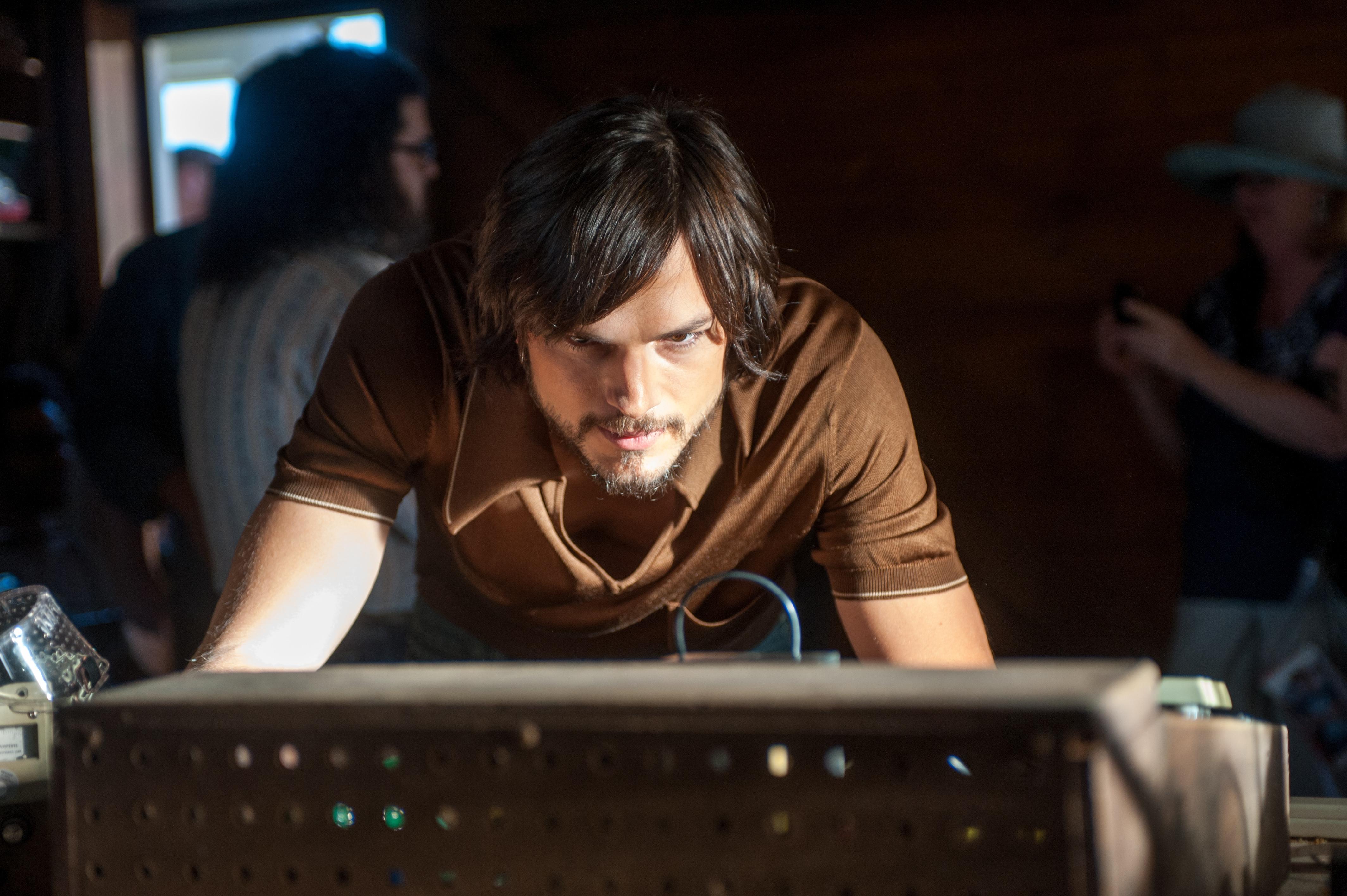 """Ashton Kutcher as Steve Jobs in a scene from """"Jobs."""""""