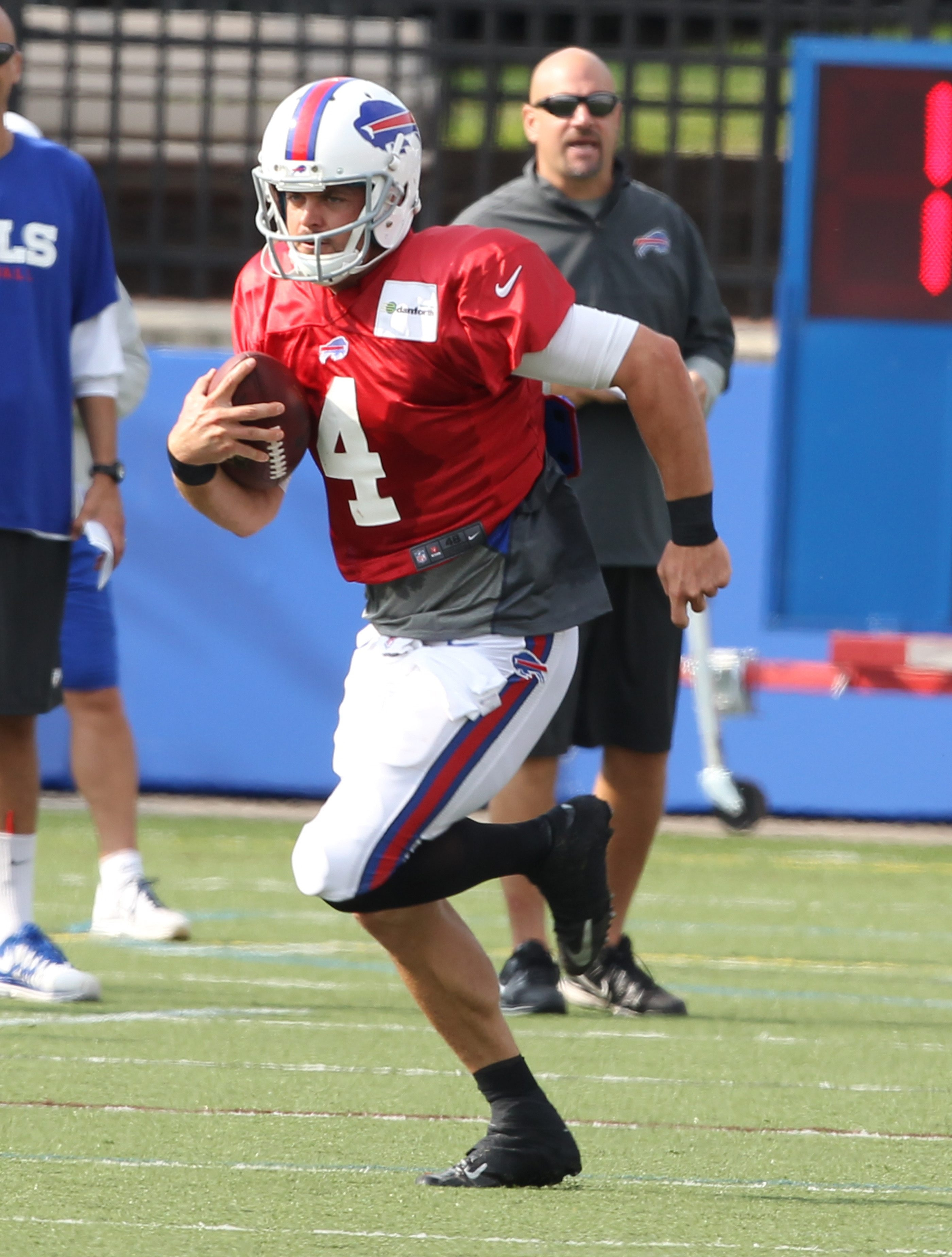 Bills quarterback Kevin Kolb moved well in practice Tuesday.