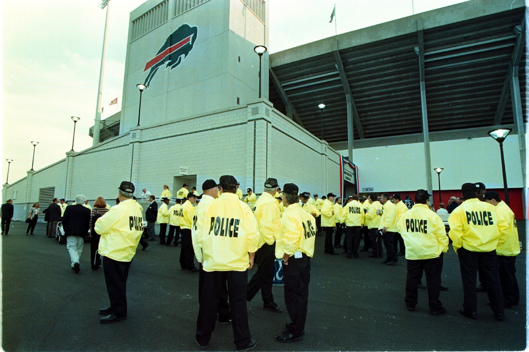 The Bills are expanding uniformed security inside and outside Ralph Wilson Stadium this year and plan to stop smoking and drinking in the immediate area around the entrance gates.