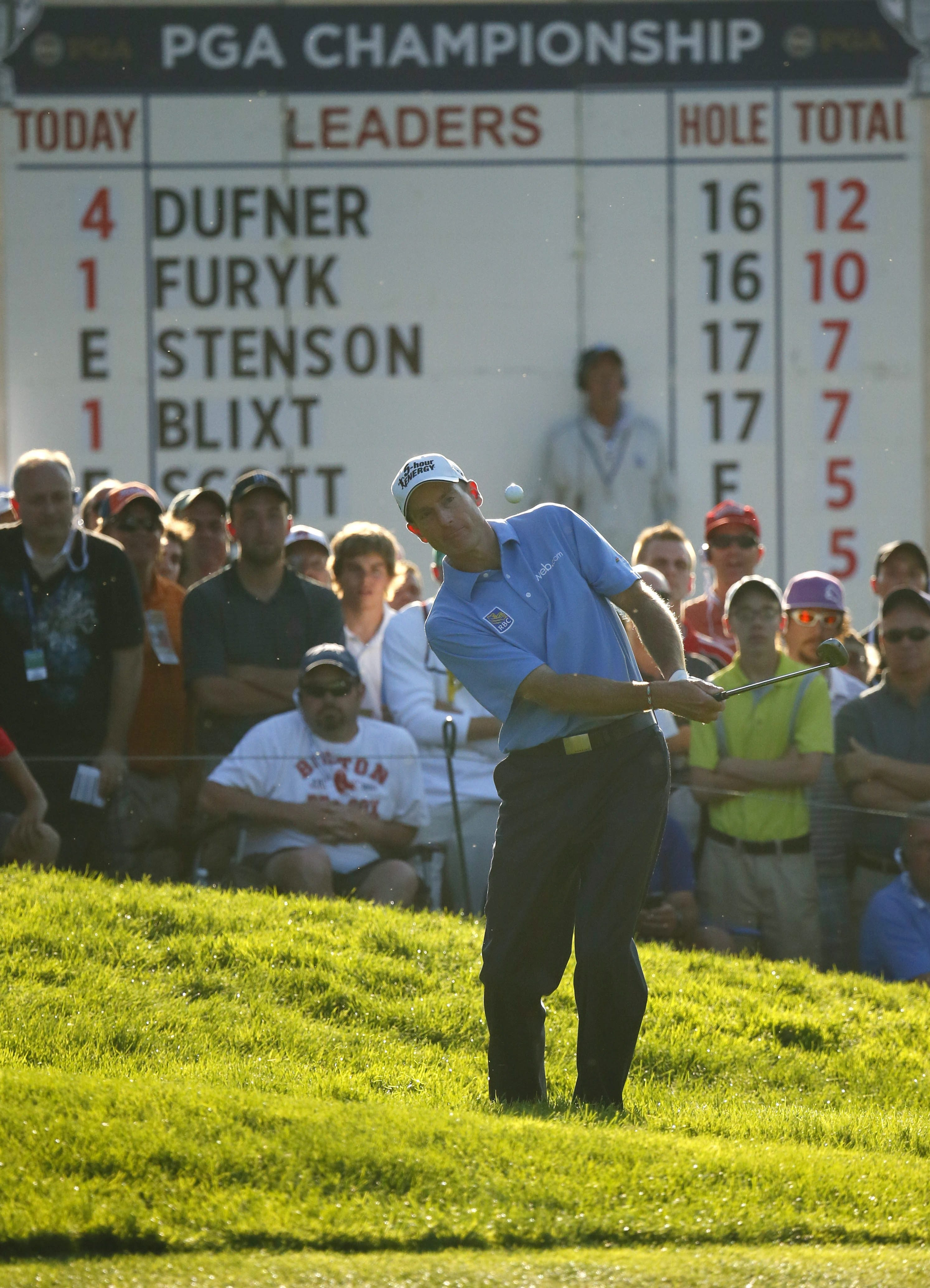 Jim Furyk couldn't make up any ground once he fell out of the lead during the final round.