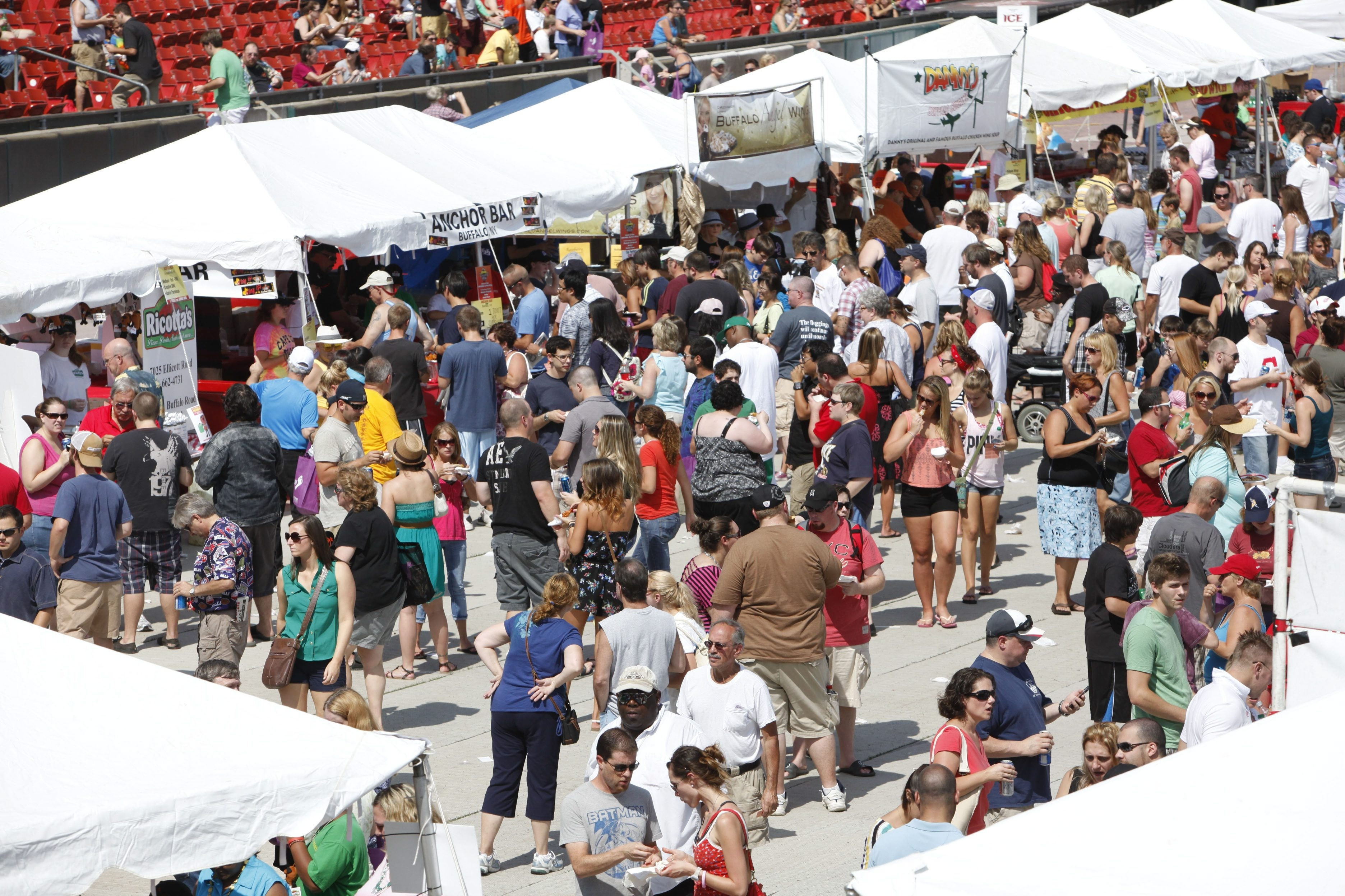 A crowd showed up for last year's National Buffalo Wing Festival at Coca-Cola Field.