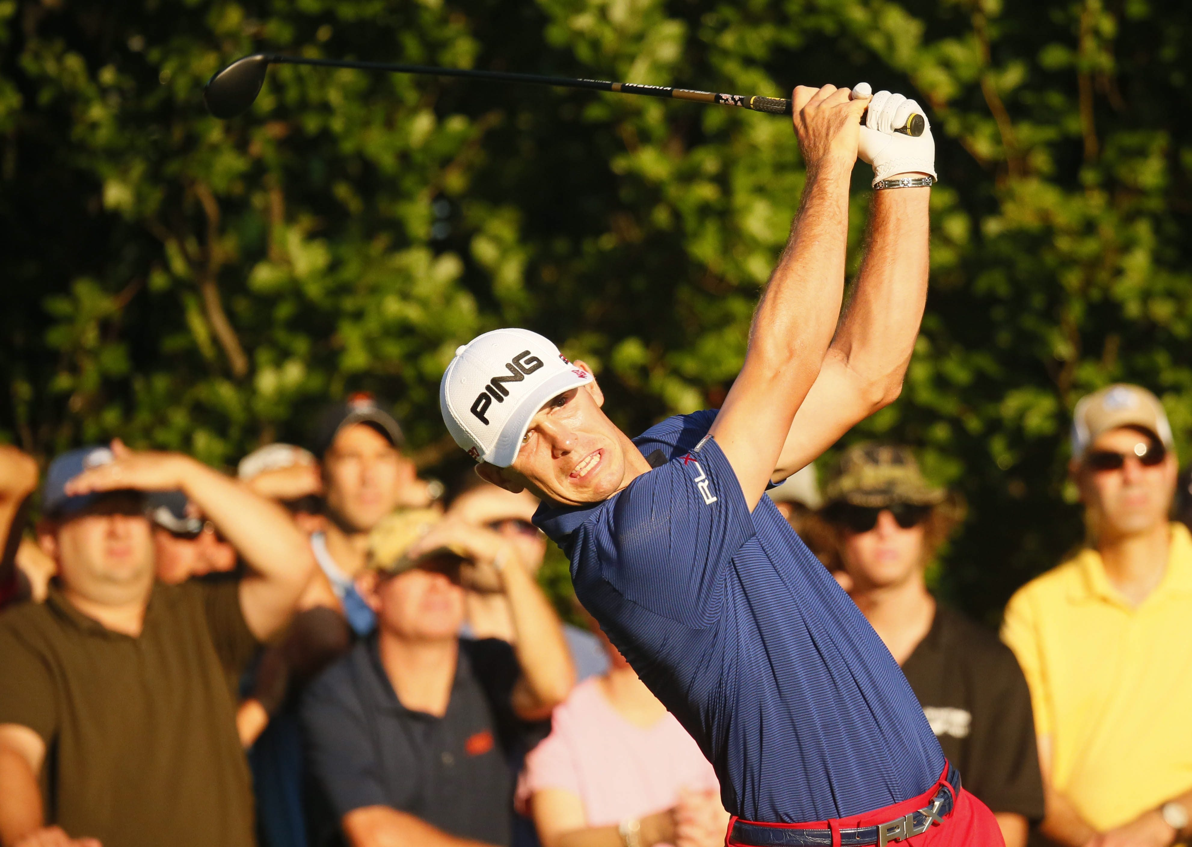 Billy Horschel, who played in the Porter Cup three times, tees off on No. 10 during his round of 1-under.