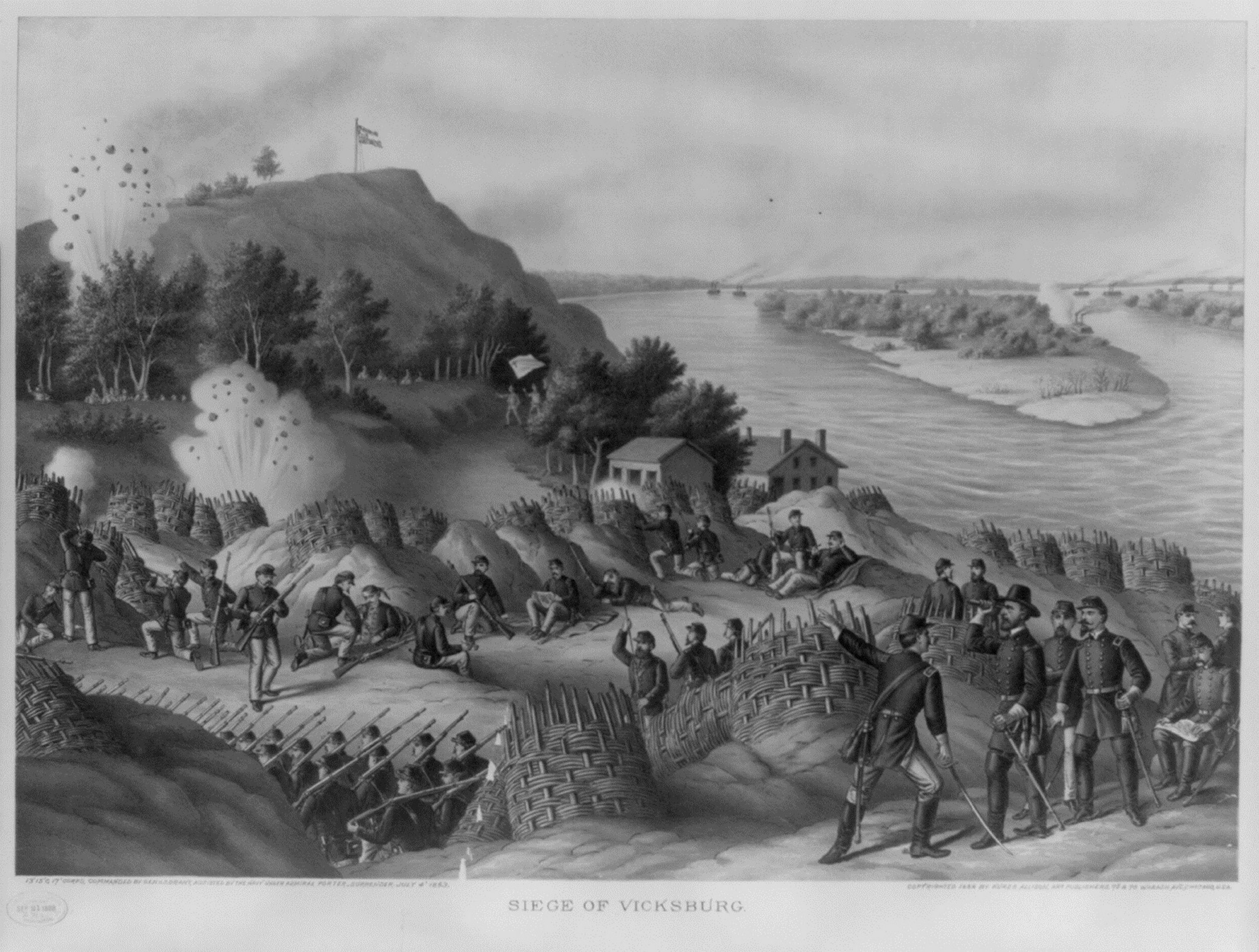 """One of the """"Twenty Clashes That Changed the World"""" was the Battle of Vicksburg, shown in artist's rendition."""