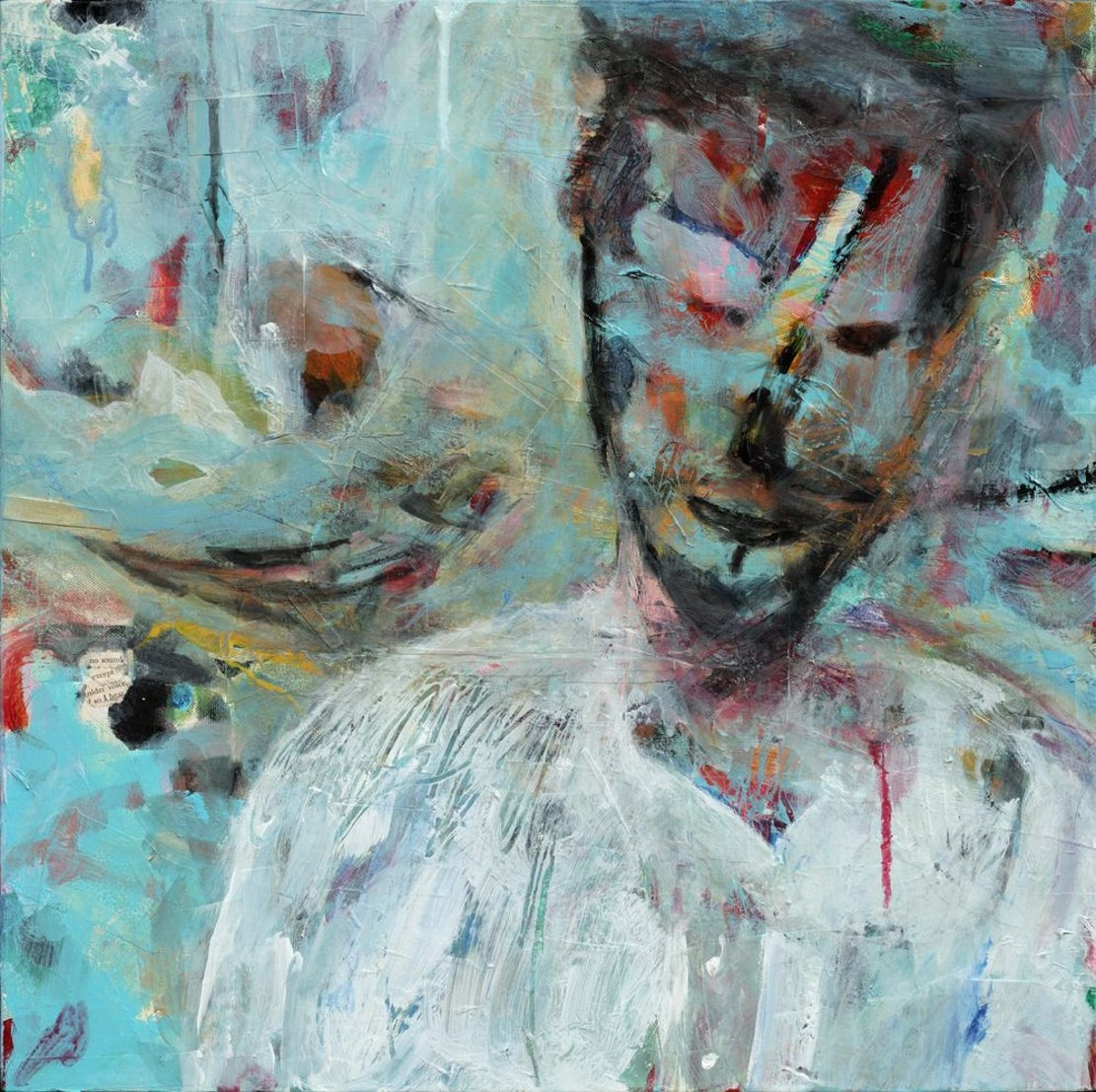 This painting by Mark Palmer is on exhibit in Studio Hart.
