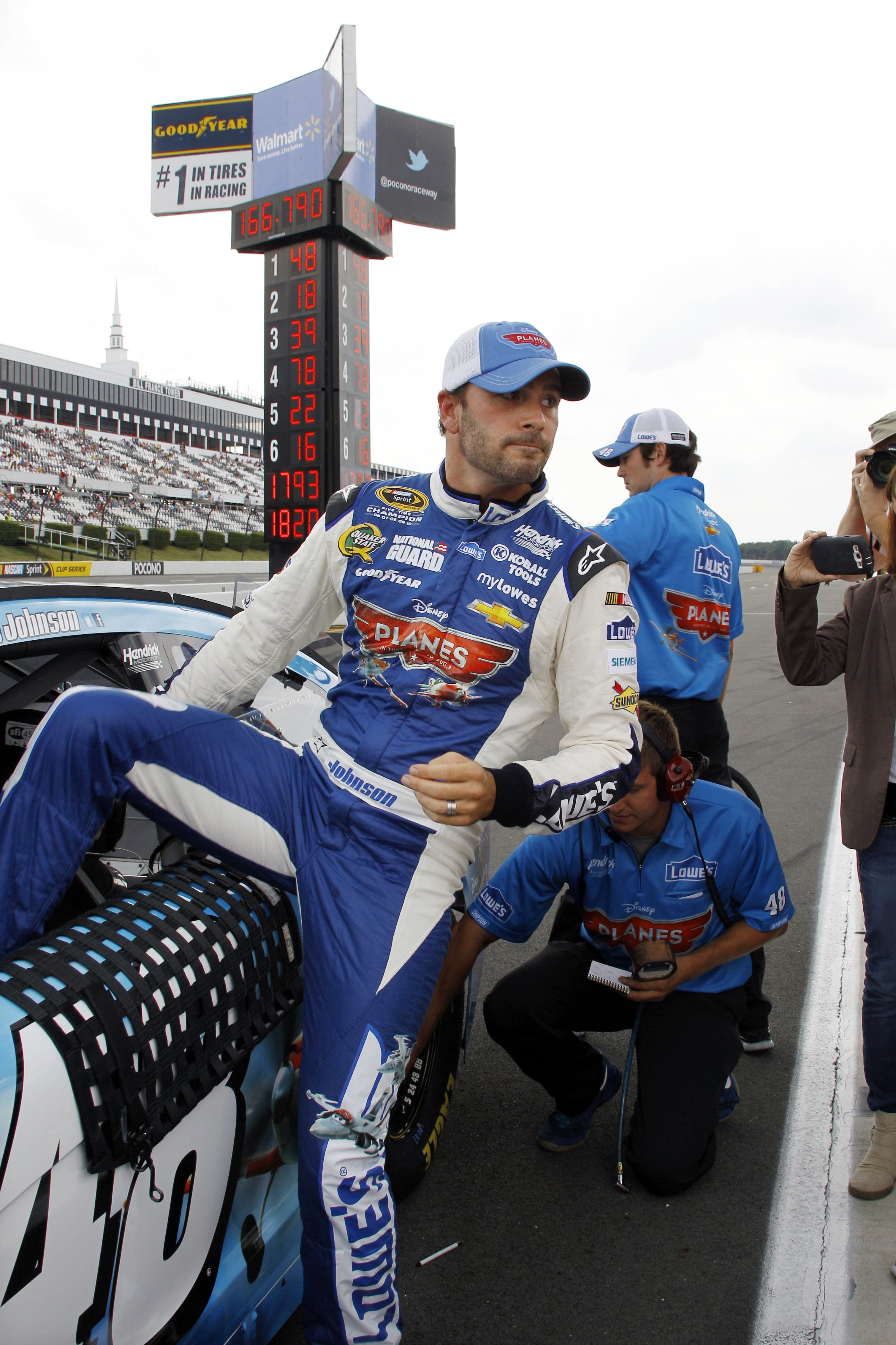 Jimmie Johnson is the leader in Sprint Cup standings.
