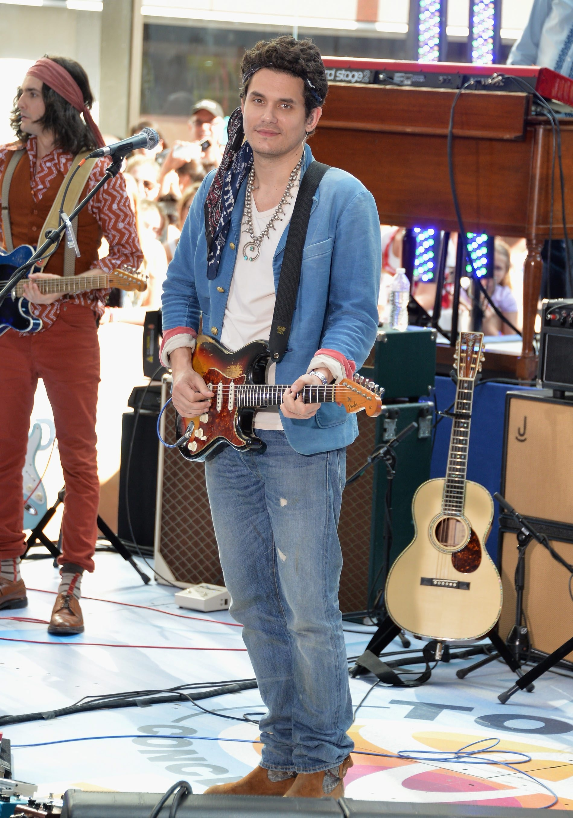 "NEW YORK, NY – JULY 05:  Musician John Mayer performs on NBC's ""Today"" at the NBC's TODAY Show on July 5, 2013 in New York, New York.  (Photo by Mike Coppola/Getty Images)"